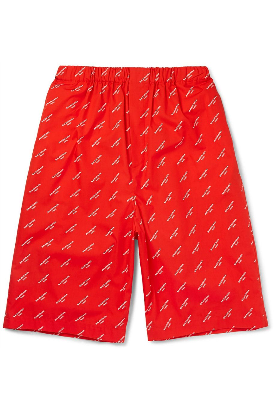 MR PORTER X BALENCIAGA Printed Cotton-Poplin Shorts