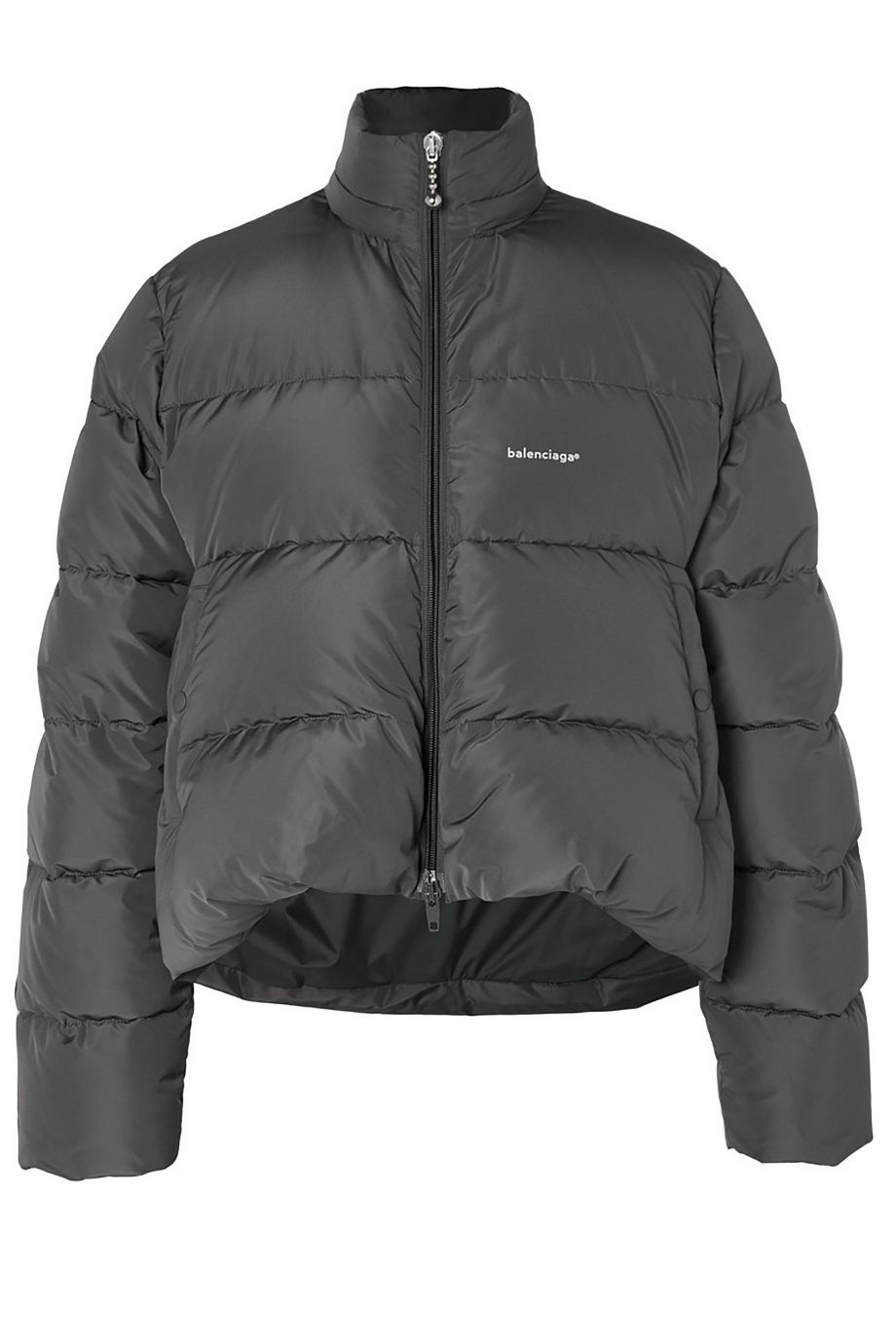 MR PORTER x BALENCIAGA Oversized Quilted Shell Down Gray Jacket