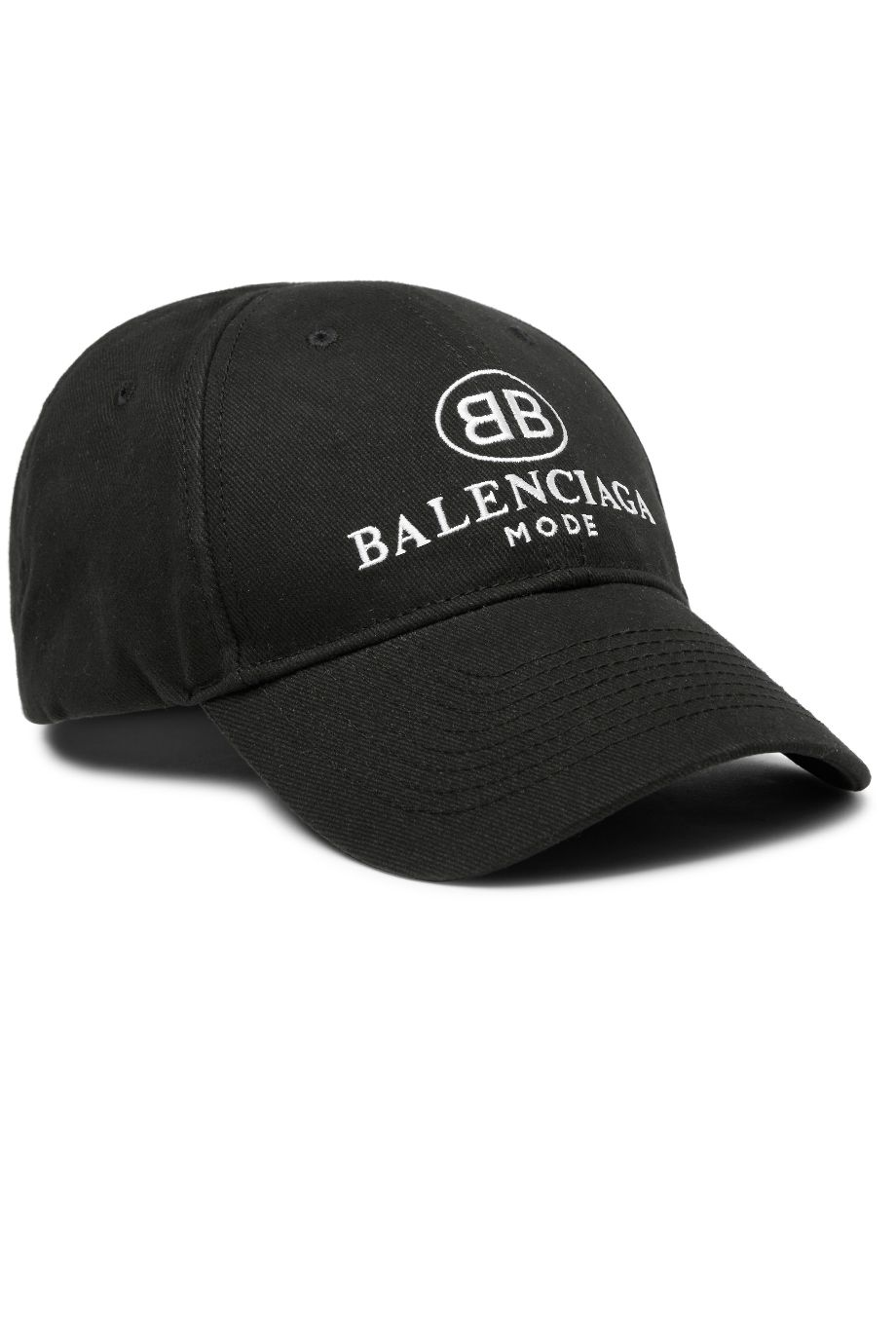 MR PORTER X BALENCIAGA Embroidered Twill Baseball Cap Black