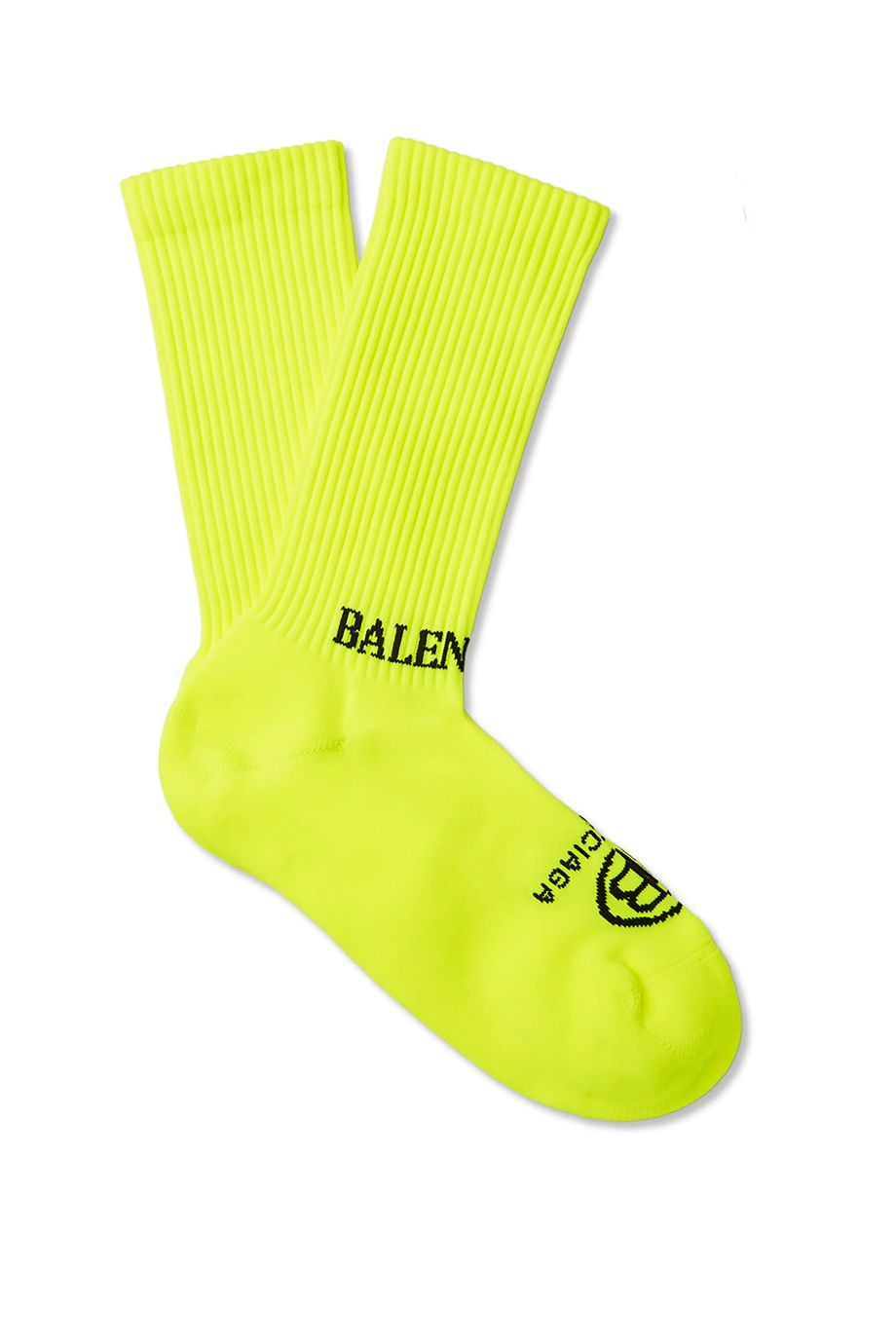 MR PORTER X BALENCIAGA Stretch-Rib Socks Yellow