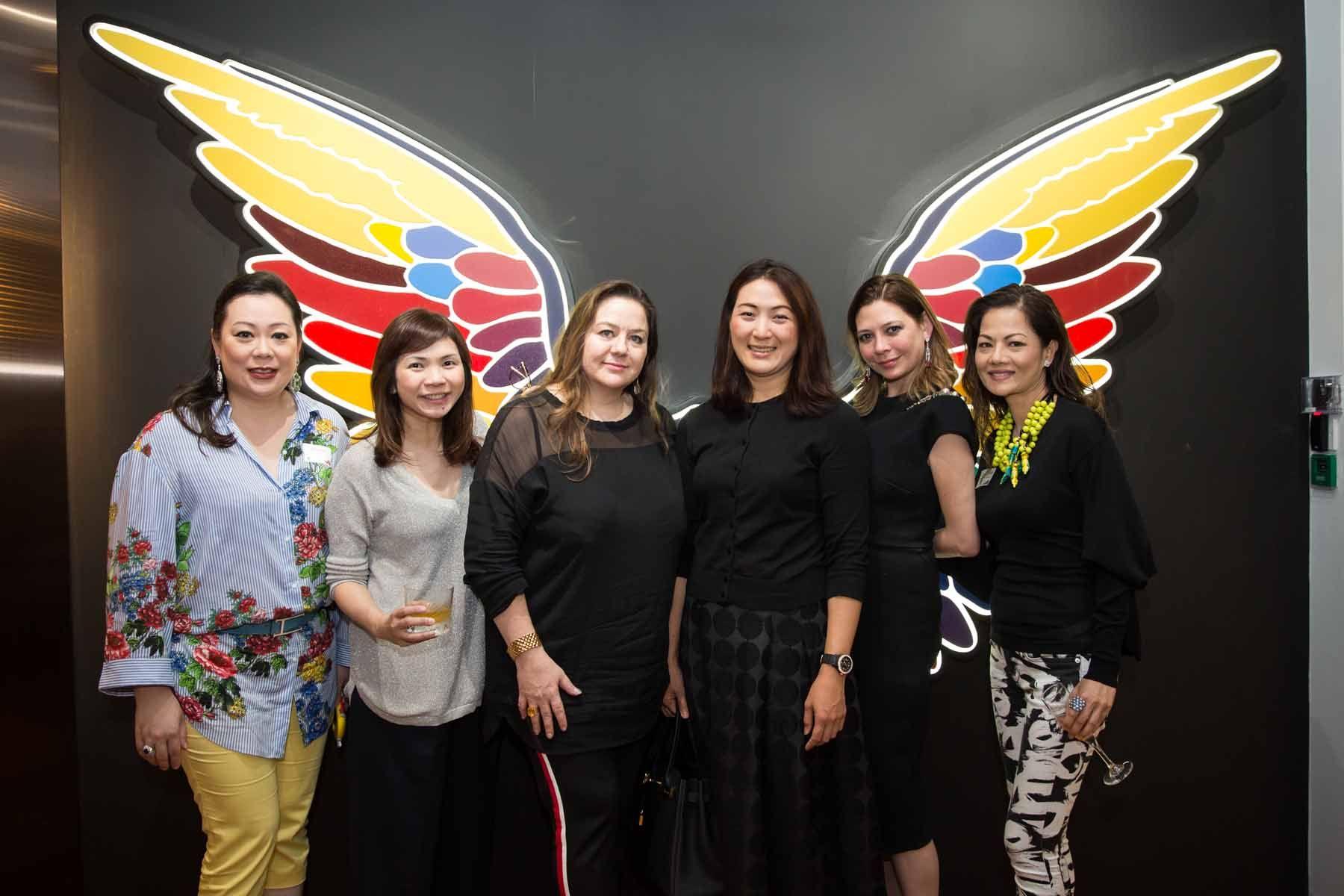 Cheryl Lee, Shirley Crystal Chua, Elena Iwatake, Nana Au-Chua, Marisa Hjelle Chan, Suguna Madhavan