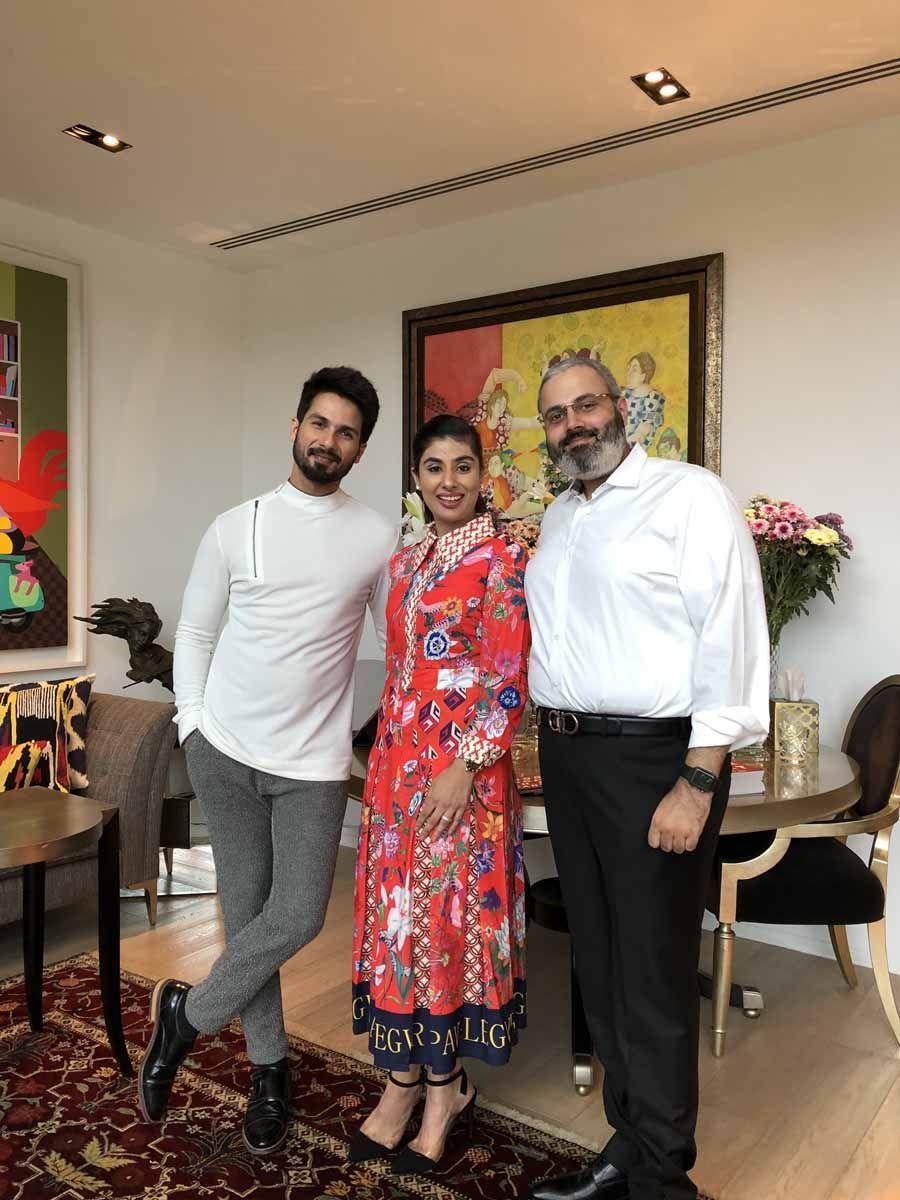 Shahid Kapoor, Nayantara Dhillon, Gurpreet Dhillon