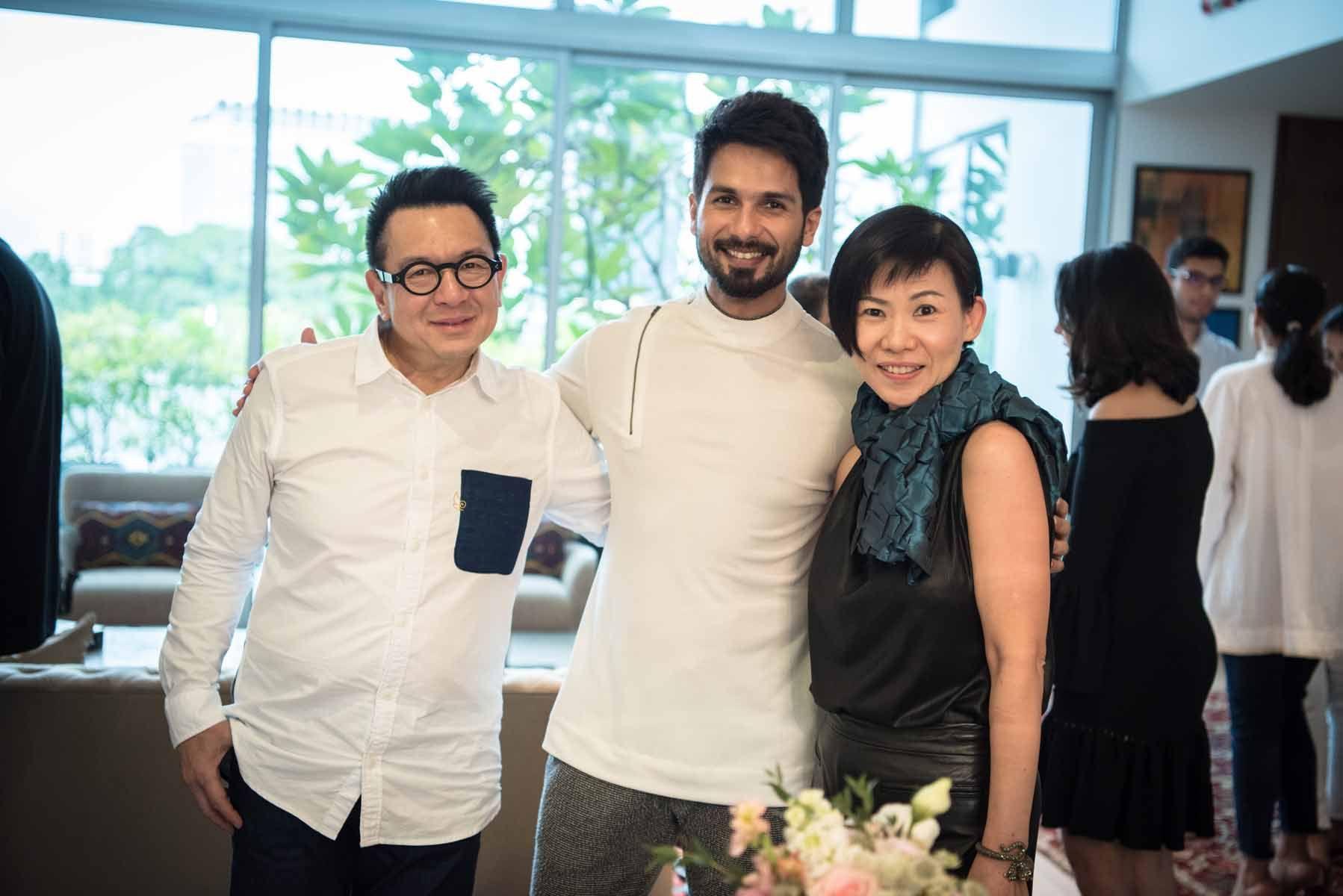 Eugene Ang, Shahid Kapoor, Ead Yang