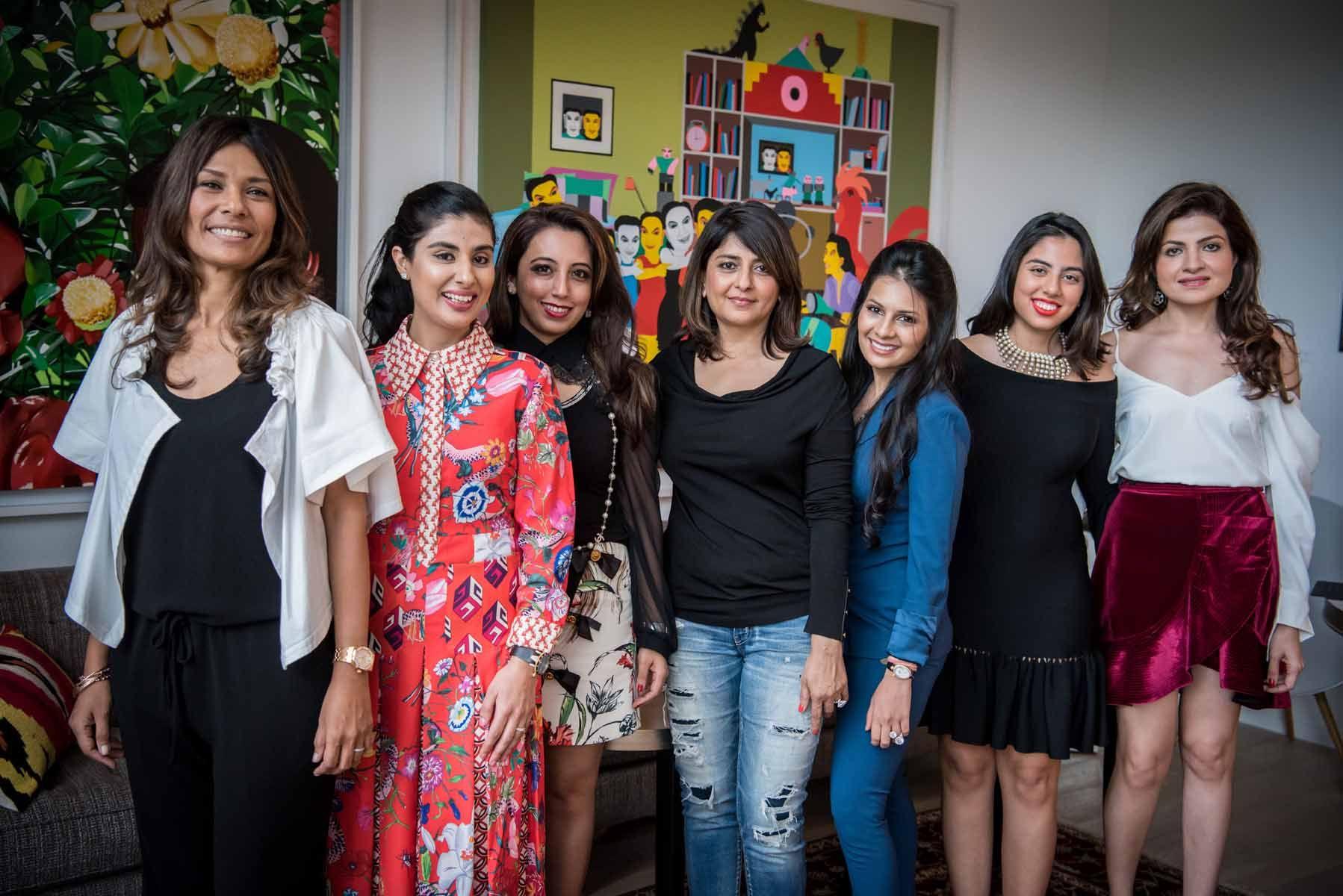 Chin Bottinelli, Nayantara Dhillon, Dimple Aswani, Bina Rampuria, Prerna Jhunjhunwala, Shaila Hiranandani, Roshan Valiram