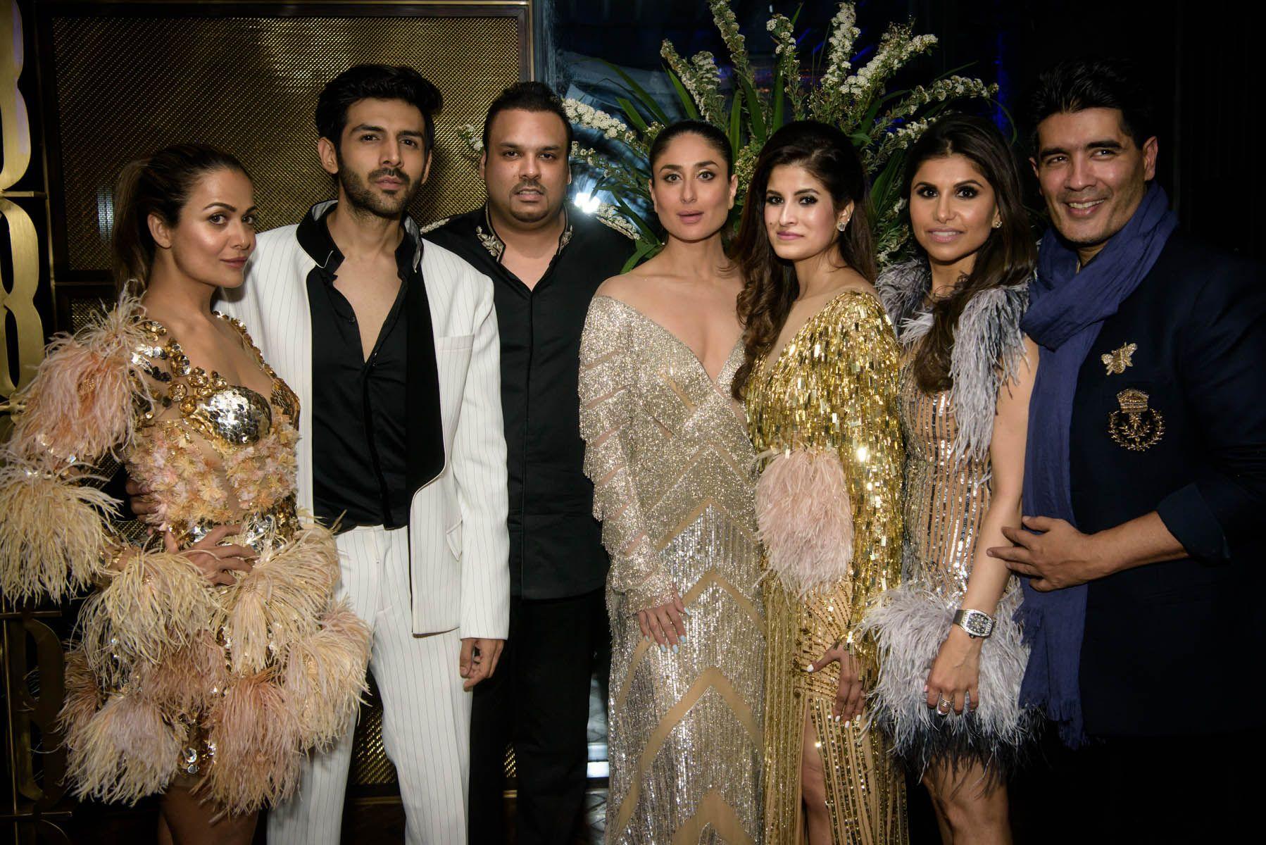 Amrita Arora, Kartik Aaryan, Shayan F Rahman, Kareena Kapoor Khan, Shazreh Rahman, Kaj Fabiani, Manish Malhotra