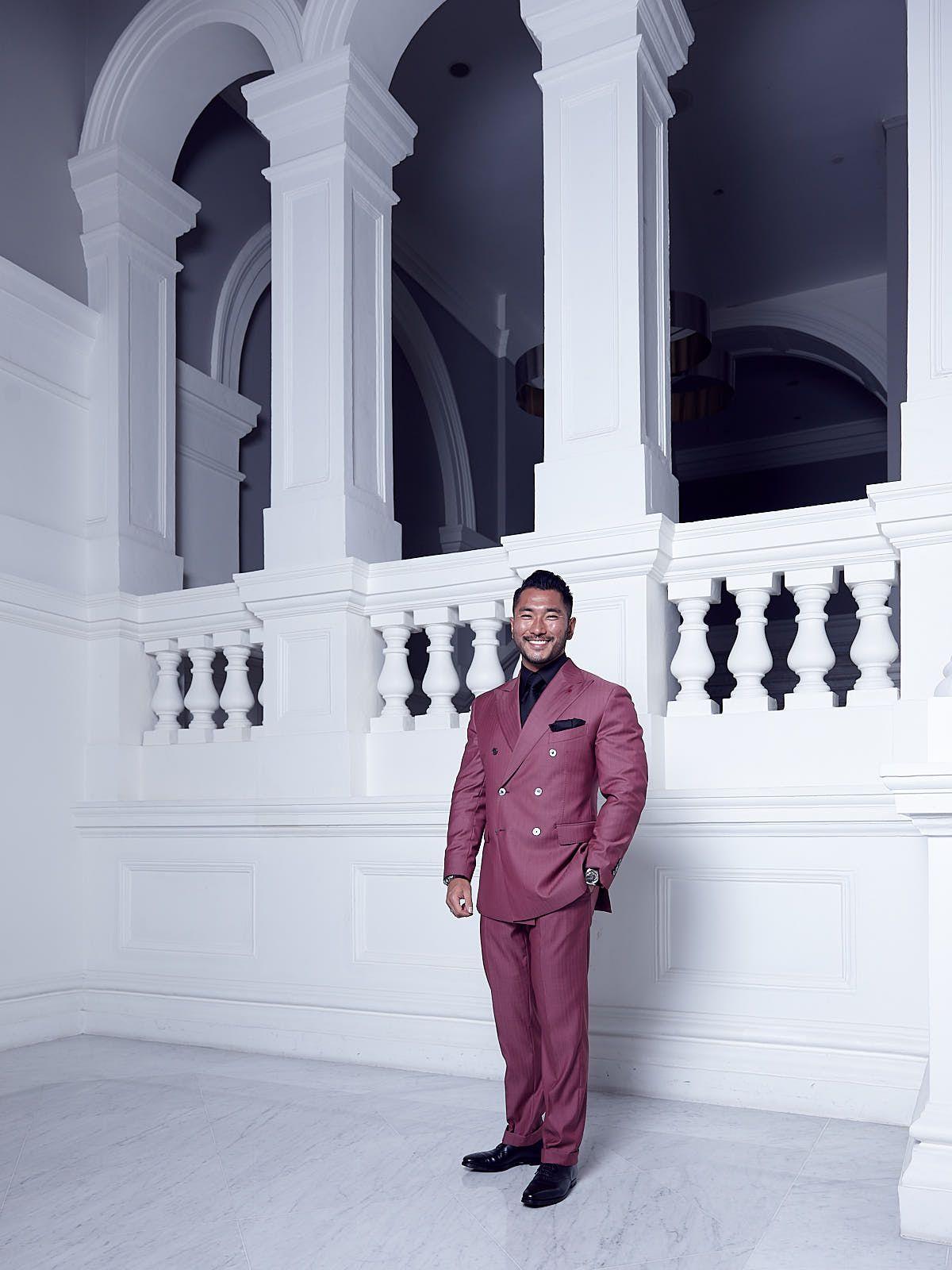 Shinji Yamasaki in a custom suit