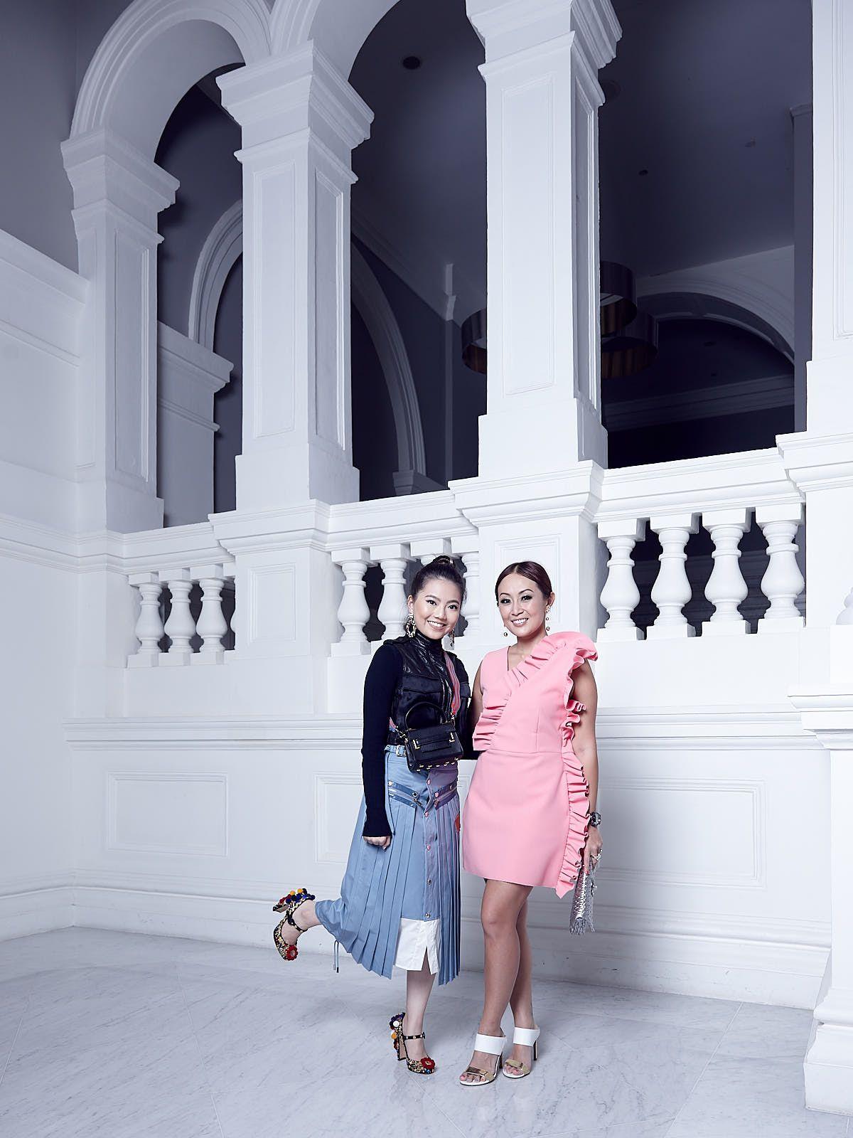 Vanessa Ng in Christian Dada and Rag & Bone, Serene Chua in MSGM