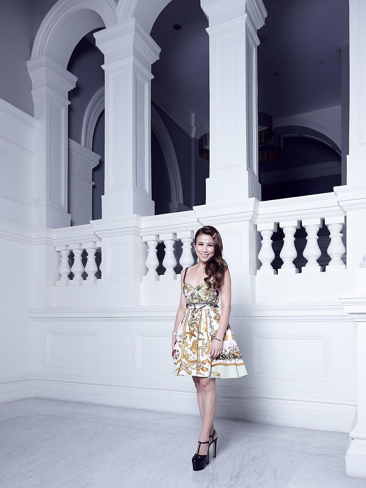 Sammi Lin in Versace