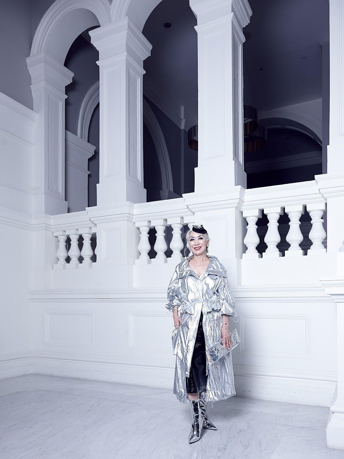 Peggy Jeffs in Wai Yang & Balenciaga