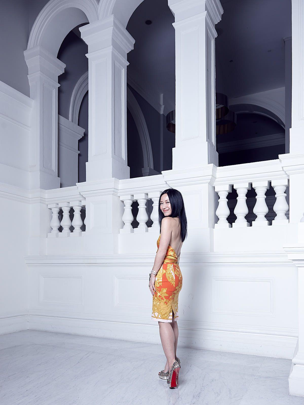 Nina Ng in Versace