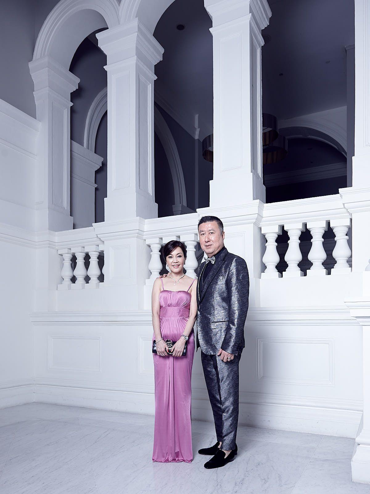Emily Piak in Balmain, Jeffrey Piak in Dolce & Gabbana