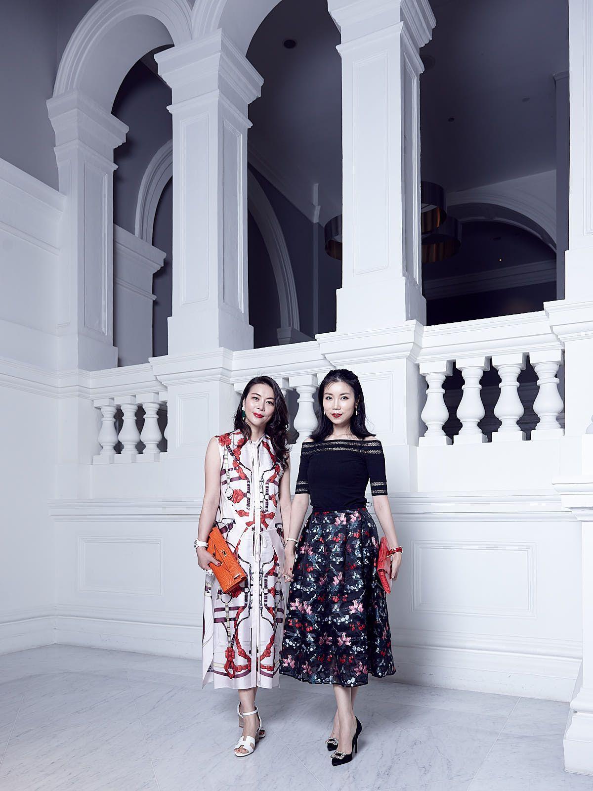 Chen Ruoyi in Hermès, Grace Guo in Erdem