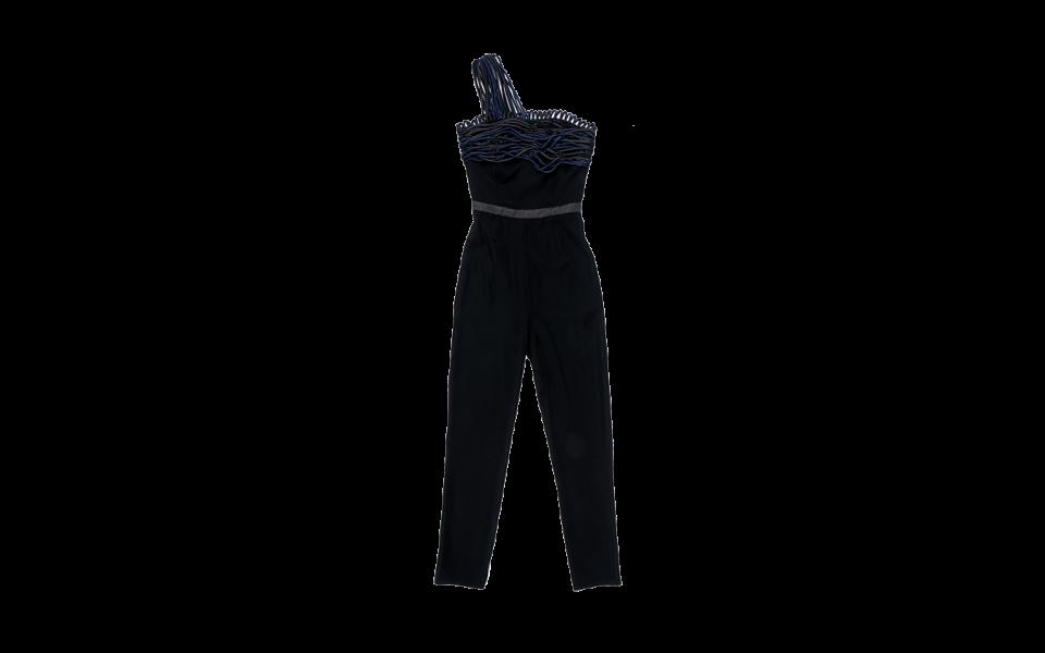 Emporio Armani Beaded Toga with Multi Strap Jumpsuit