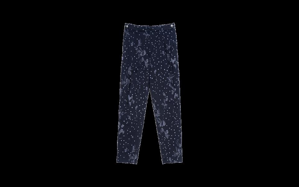 Emporio Armani Trousers in Jacquard Print