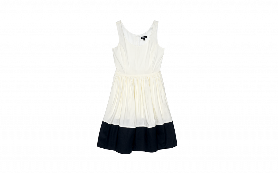Emporio Armani Dress with Contrasting Panel at Hem