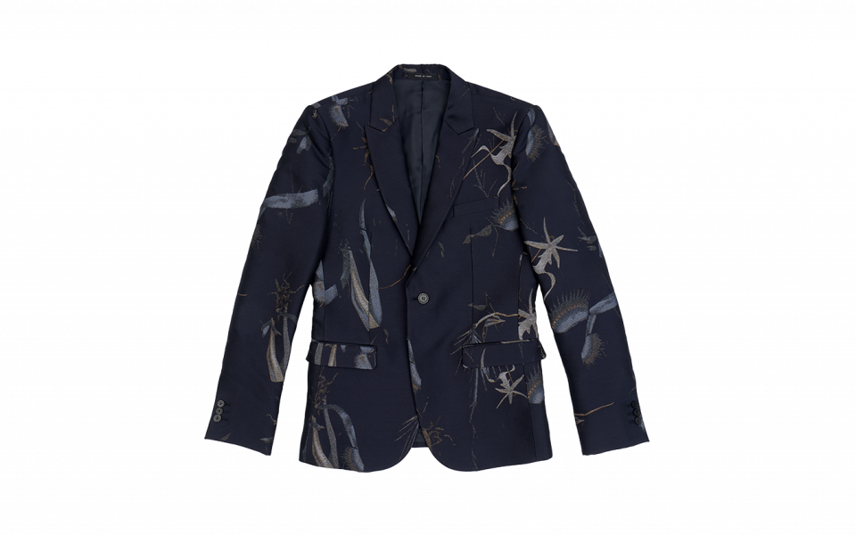 Emporio Armani Single-Breasted Floral Jacquard Jacket