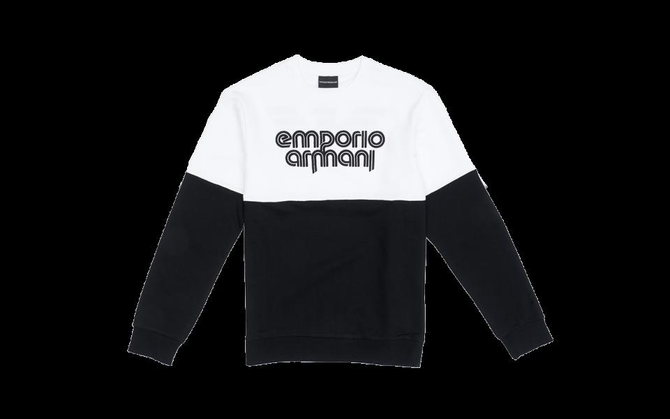 Emporio Armani Bicolour Knit Top