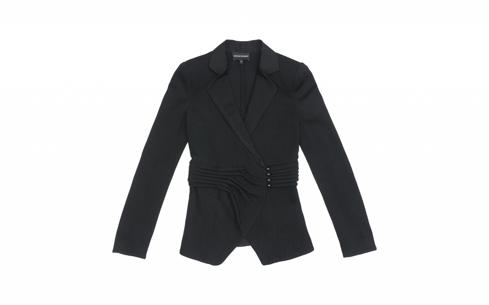 Emporio Armani Notch Lapel Jacket with Side Button