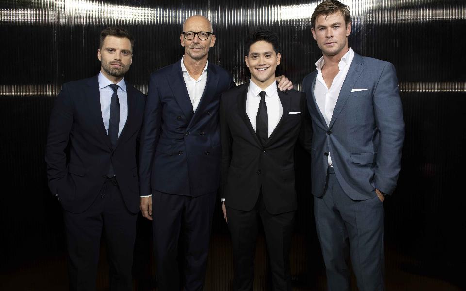 Sebastian Stan, Ingo Wilts, Joseph Schooling, Chris Hemsworth