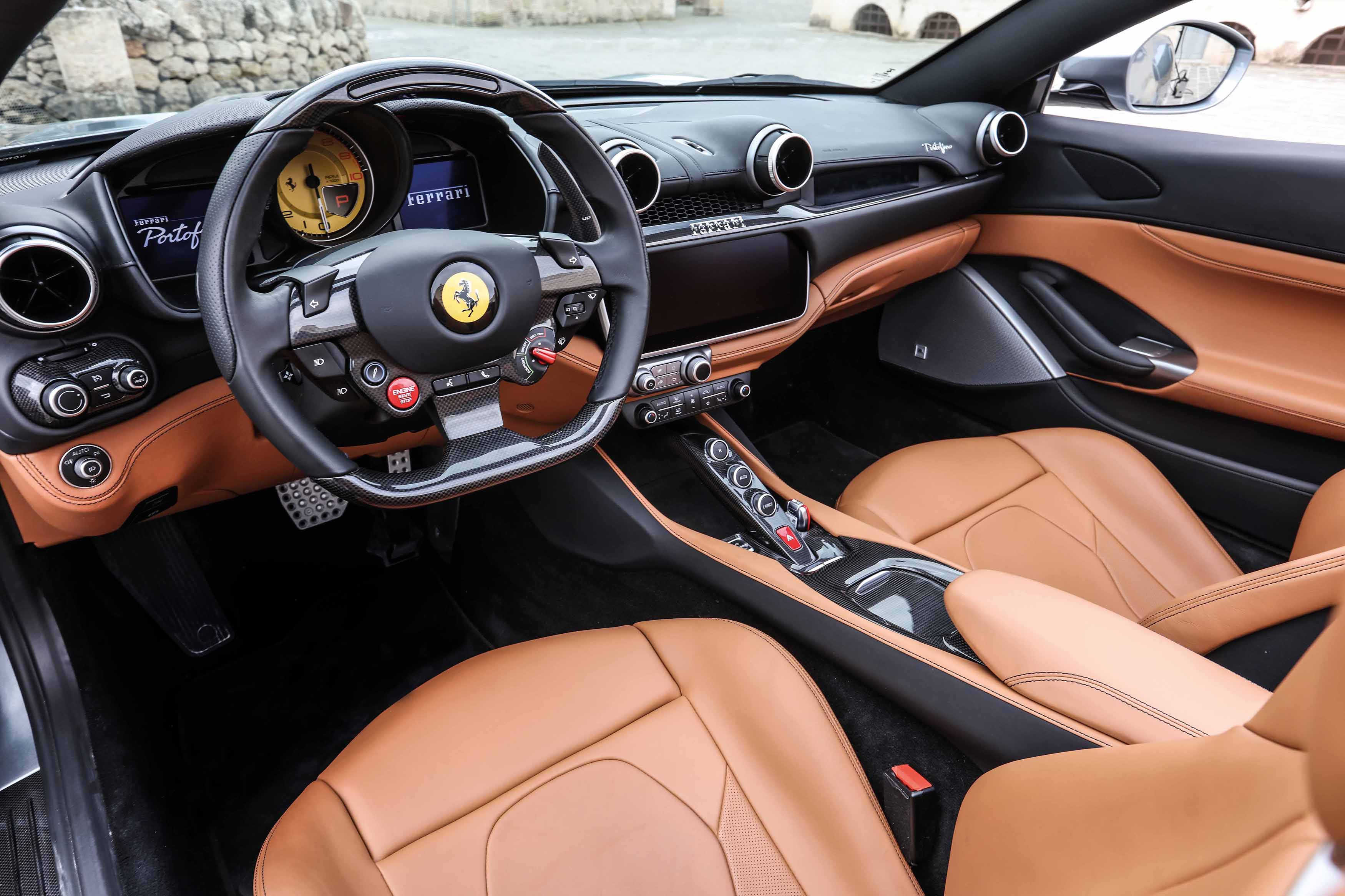 The Portofino's interior and engine takes notes from the more expensive Ferrari GTC4Lusso T and is carefully adapted for use in the entry-level Ferrari