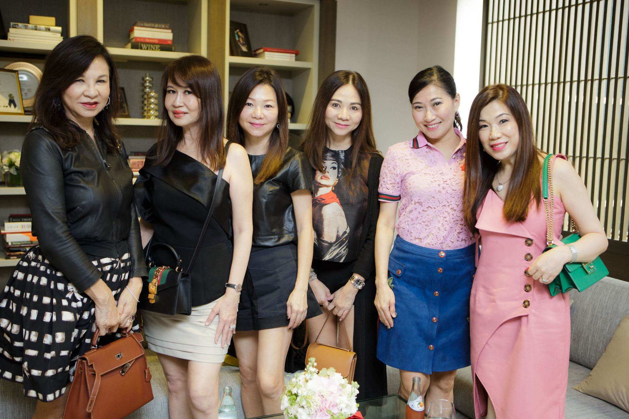 Violet Yeo, Evelyn Sam, Angela Ng, Jacelyn Lai, Tan Khar Nai, Susan Peh