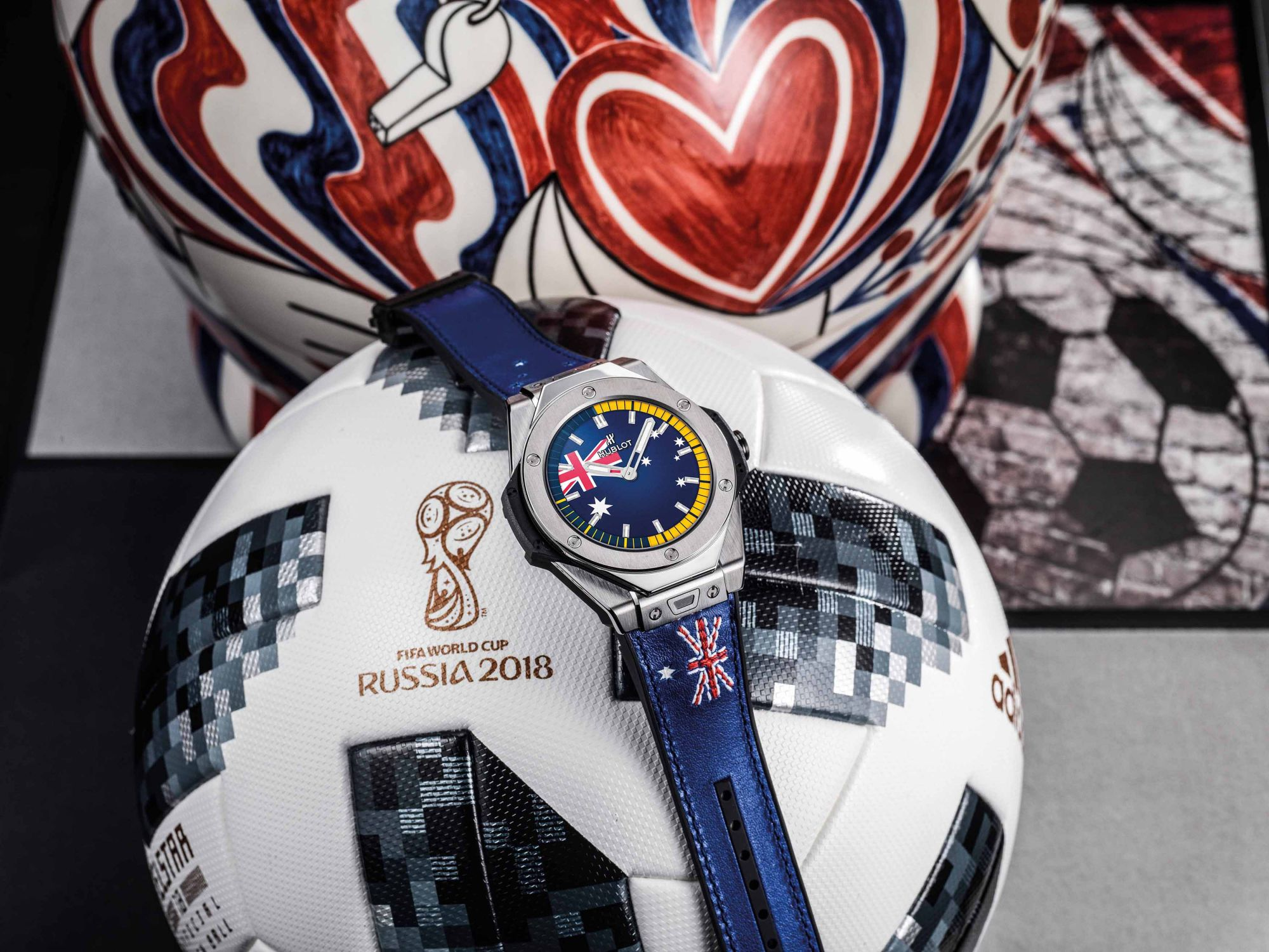 Football fans can show their support for their favourite teams by changing the dial, and even the bracelet, of the Hublot Big Bang Referee watch