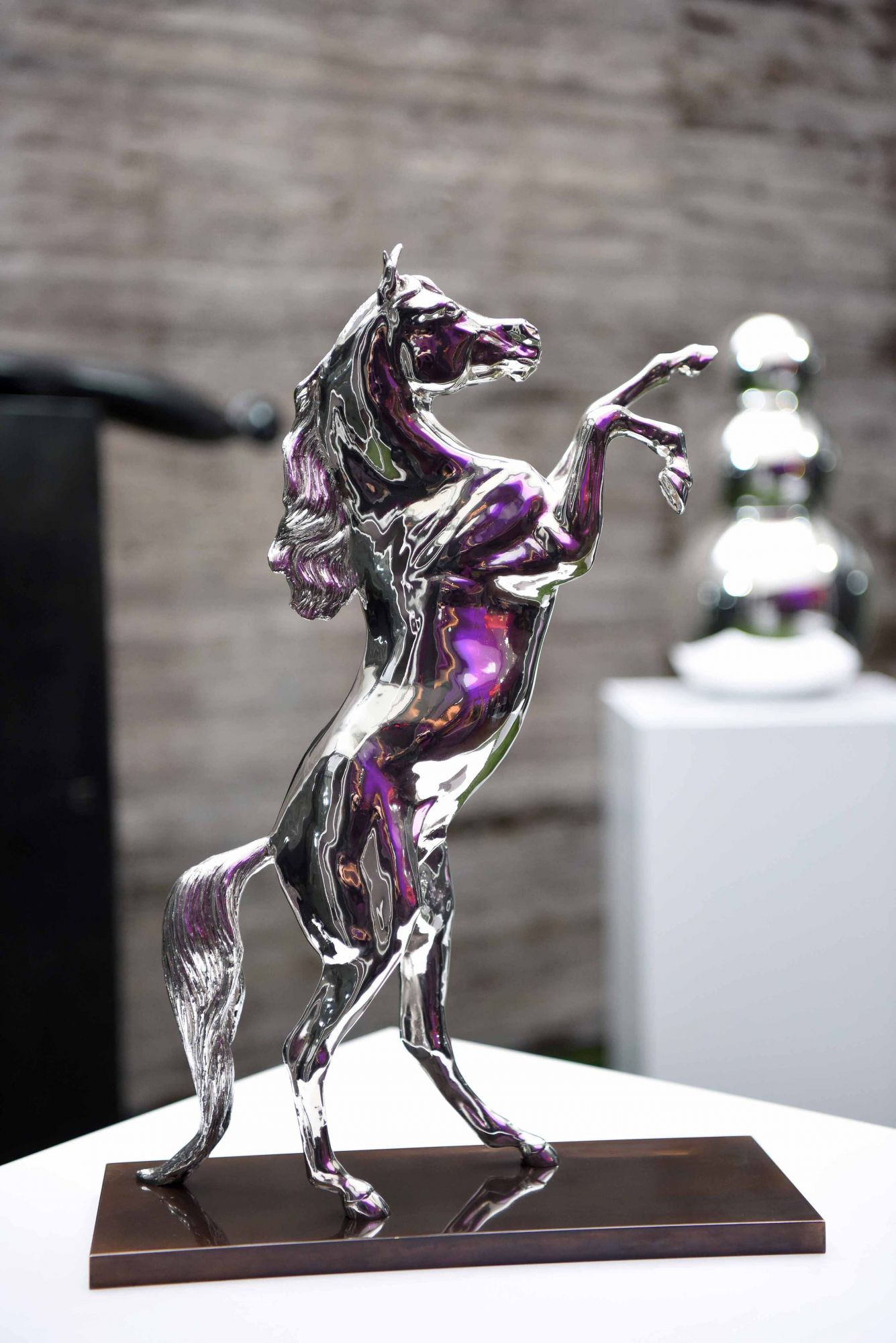 Christofle Sterling Silver Rearing Arabian Horse by Allison Hawkes