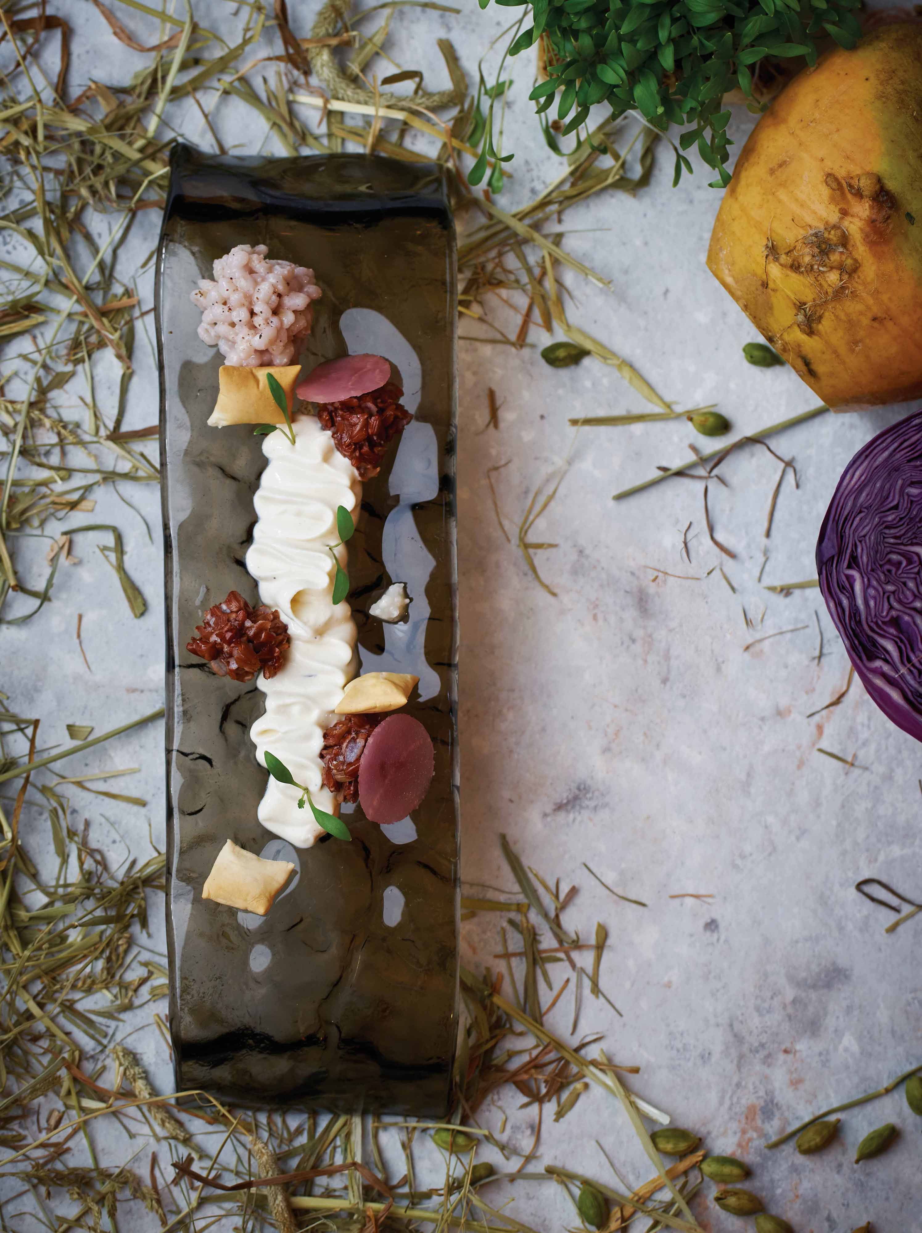 Ricotta and red rice by chef Daniele Sperindio of Atlas (photo by Ching/GreenPlasticSoldiers)