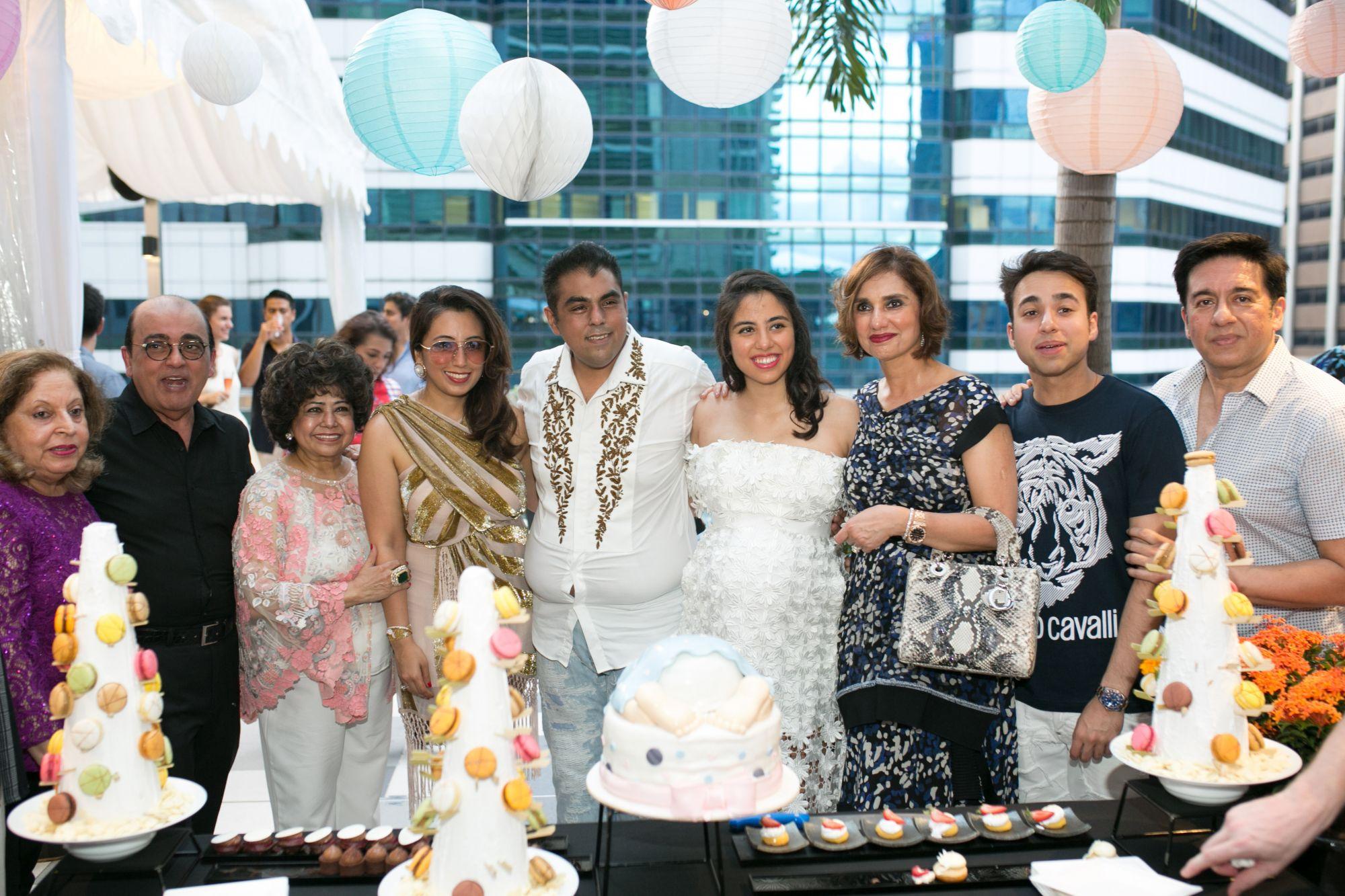 Asok Hiranandani, Asha Hiranandani, Dimple Aswani, Bobby Hiranandani, Shaila Hiranandani, Mona Tanwani, Versash Tanwani, Mahesh Tanwani
