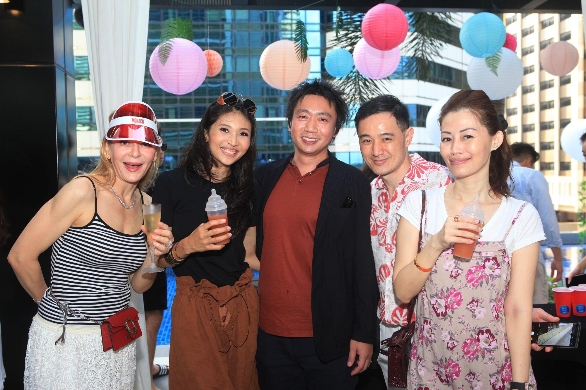 Paulina Böhm, Karen Ong-Tan, Samuel Tan, Benjamin Kim, Serene Tan