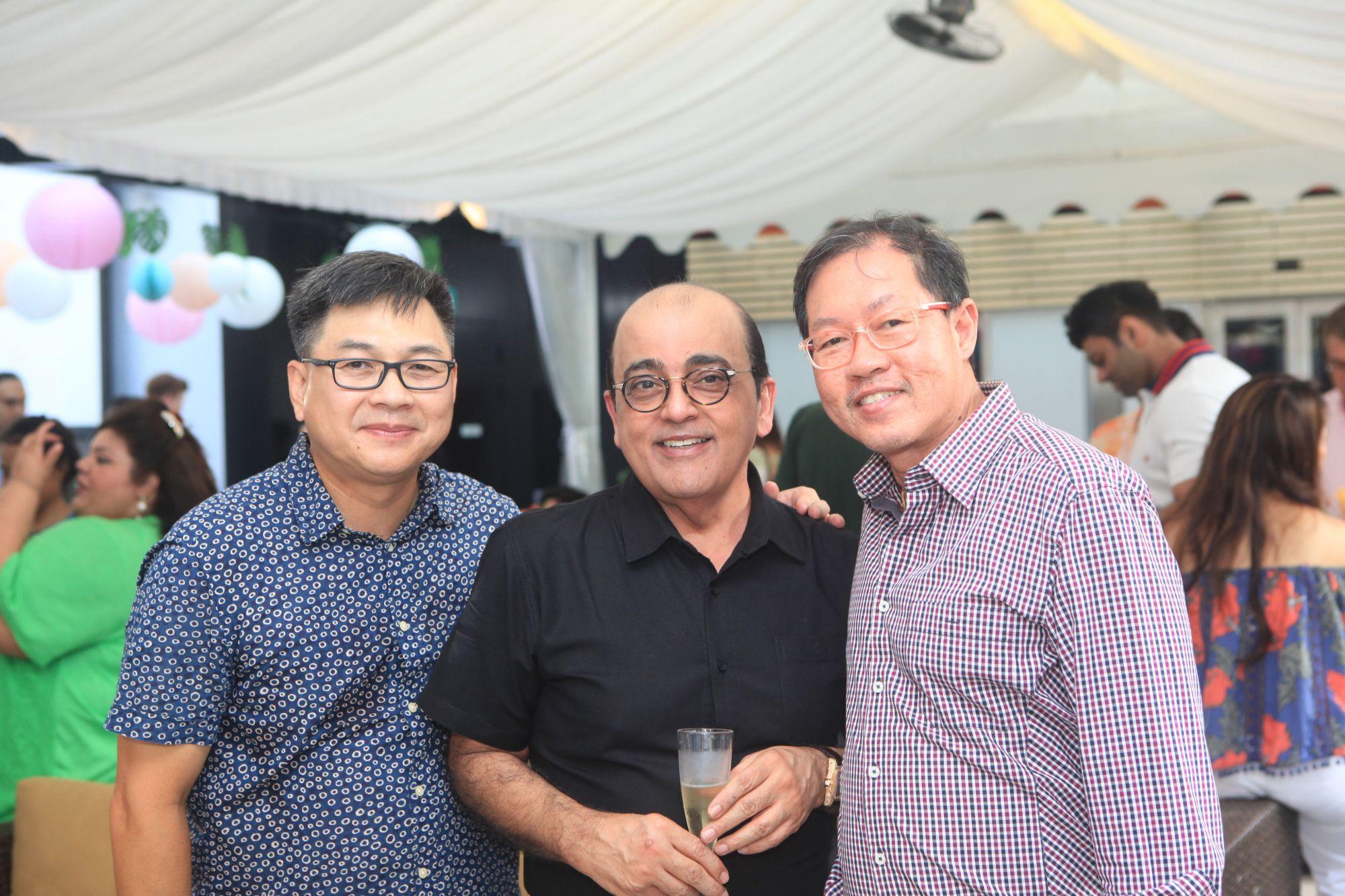 Amos Ong, Asok Hiranandani, Sit Kok Seng