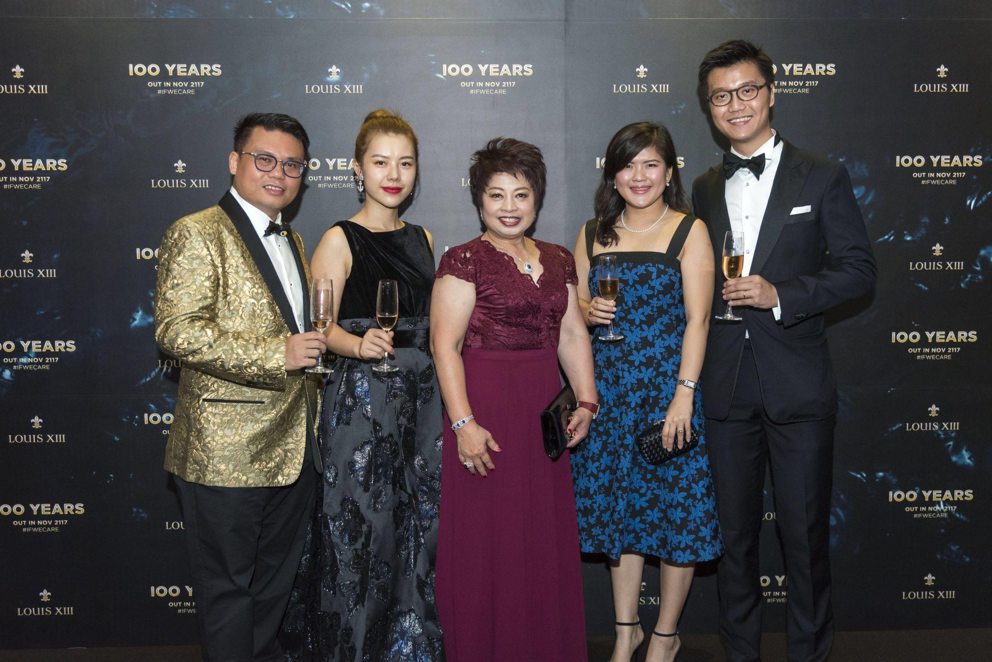 Francis Ong, Eva Ong, Linda Phee, Ginny Lin, Benny Tan
