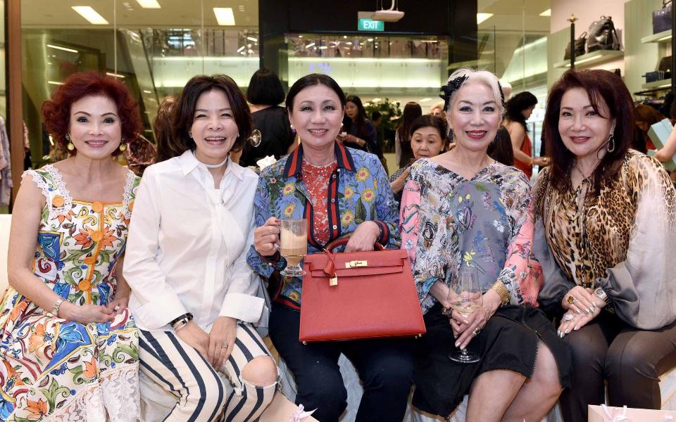 Linda Soo-Tan, Grace Wong, Renee Tan, Peggy Jeffs, Lotus Soh