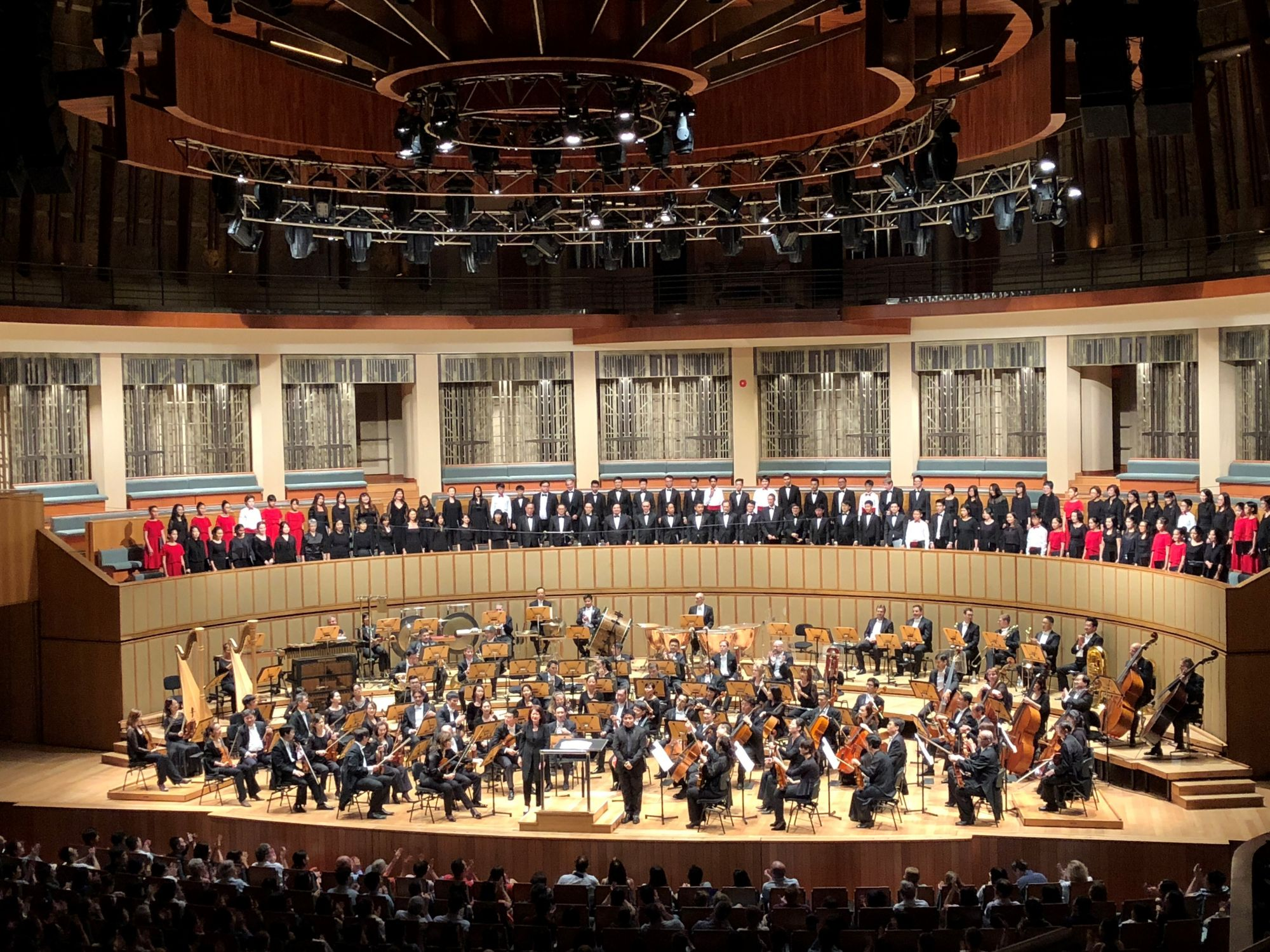 The Singapore Symphony Orchestra, performing alongside the Singapore Symphony Chorus, Singapore Symphony Youth Choir and Singapore Symphony Children's Choir