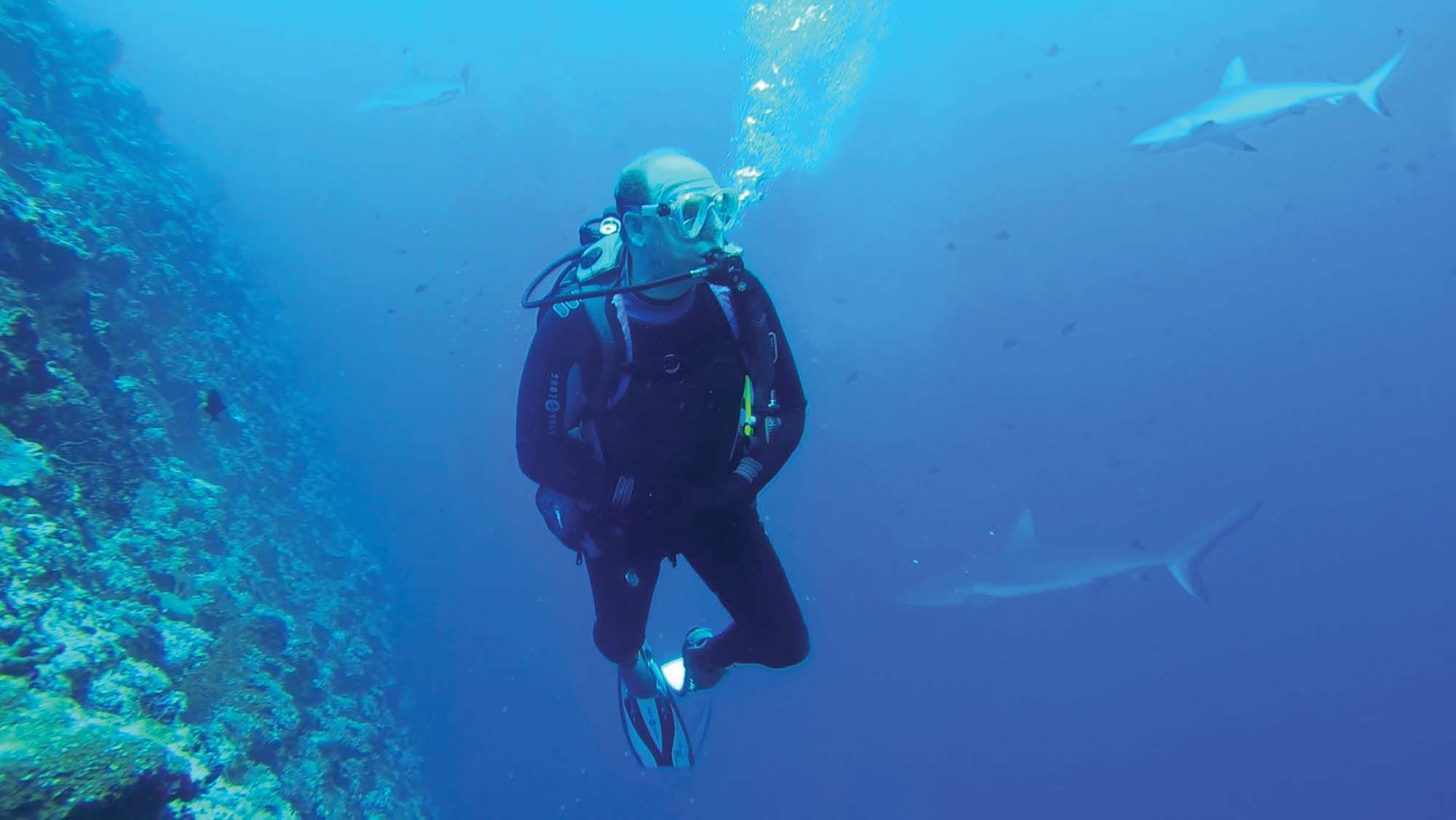 His Serene Highness Prince Albert II of Monaco is a qualified diver as he is seen here exploring the ocean depths (photo by Explorations de Monaco)