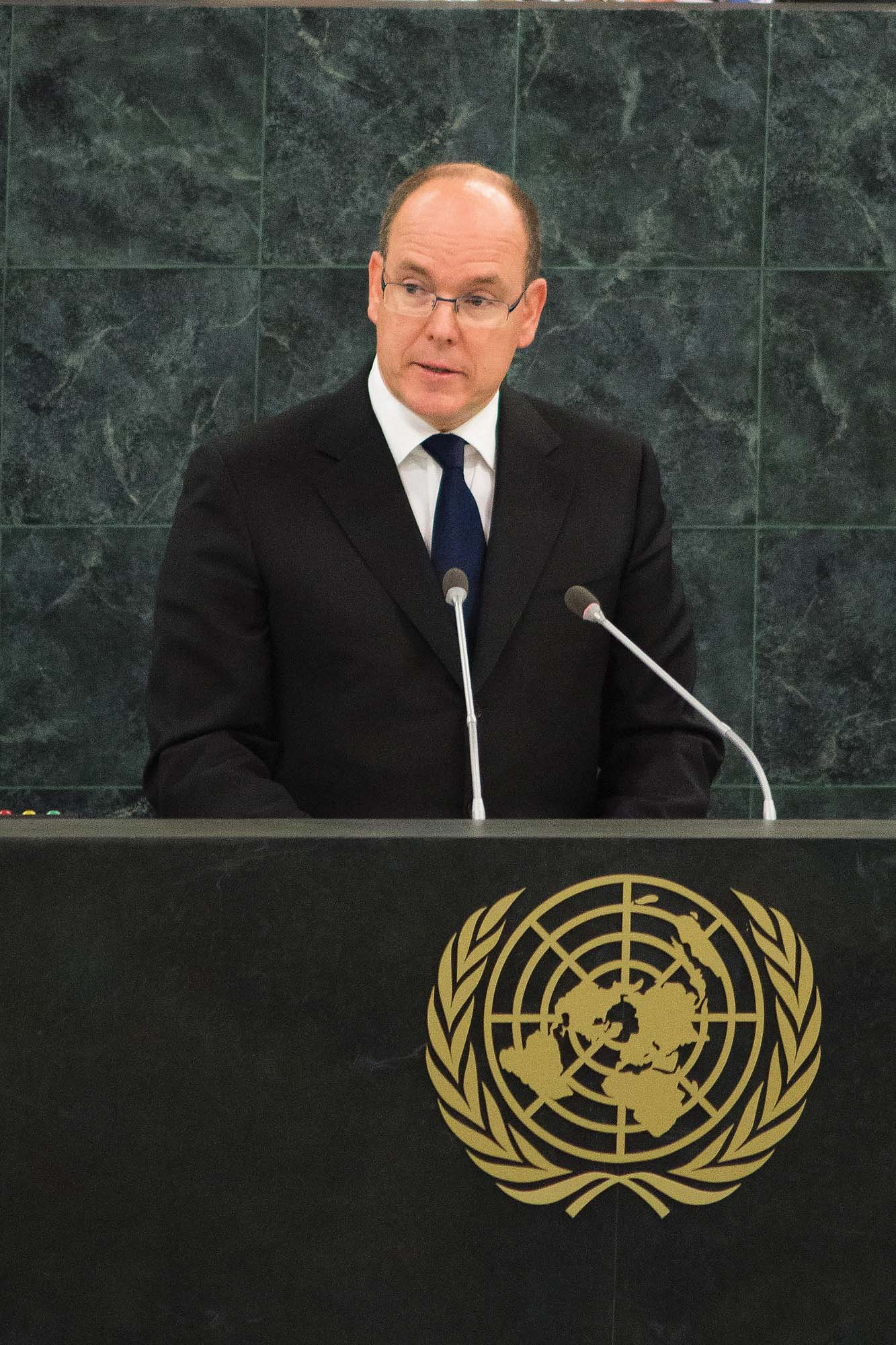Always championing for sustainable development, Prince Albert II addressed the United National General Assembly in New York (photo by Eric Mathon/Prince's Palace of Monaco)