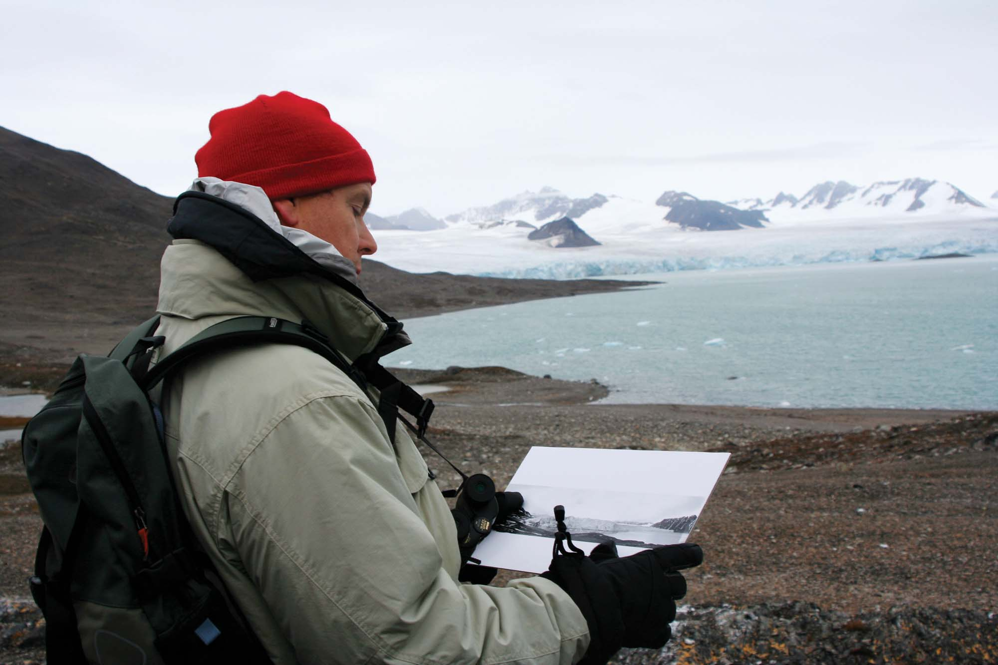 The prince follows in his great-great-grandfather Prince Albert I's Arctic footsteps at Norway's Svalbard archipelago in 2005 (photo by Spitzberg/Prince's Palace of Monaco)