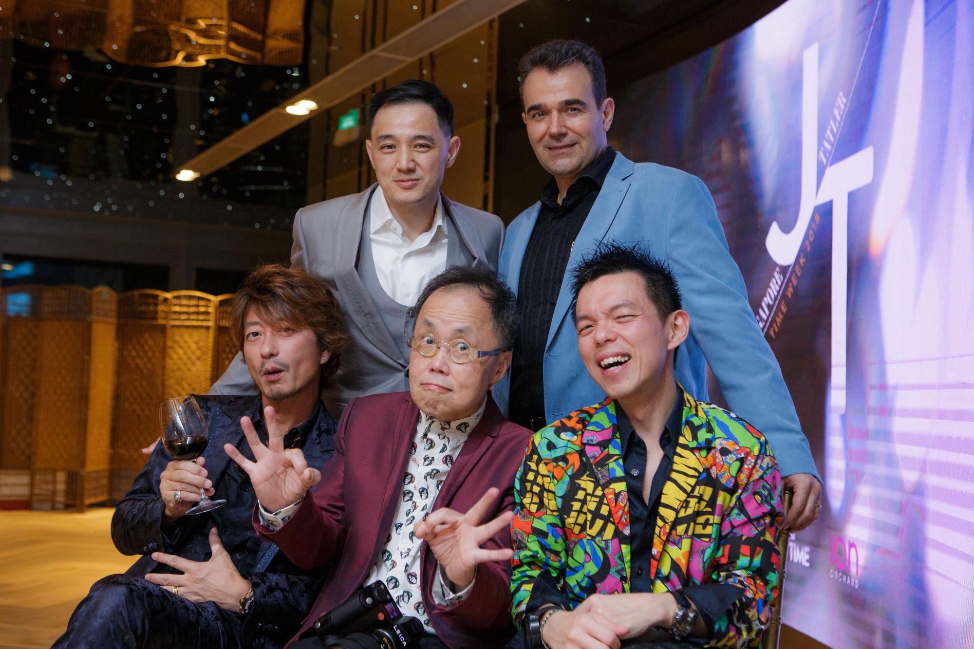Benjamin Kim, Oscar Mico, Adrian Ng, Bernard Cheong, Kimihisa Abe
