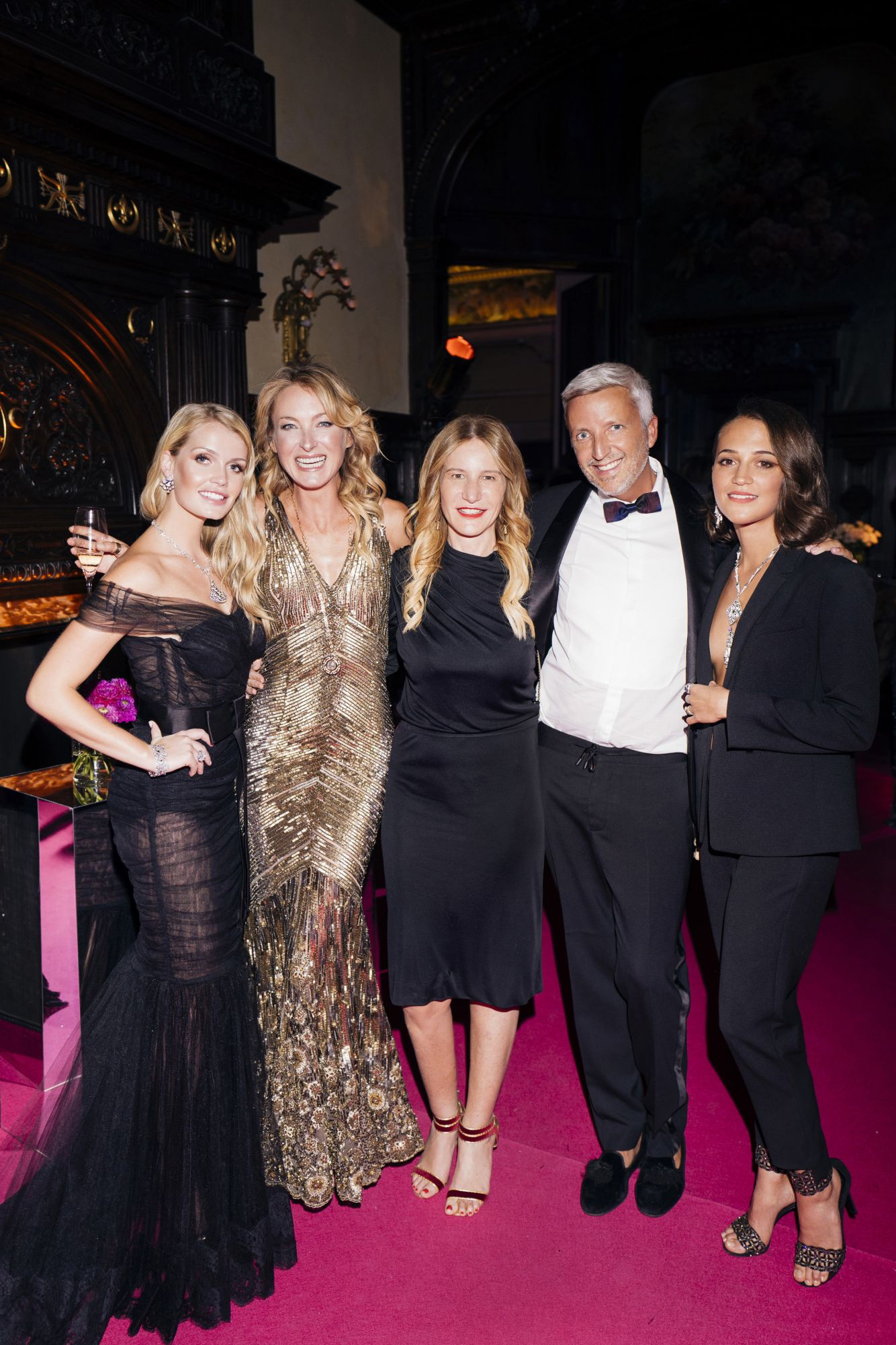 Kitty Spencer, Lilly Wittgenstein, Elisabetta Marra, Steven Walberg, Alicia Vikander
