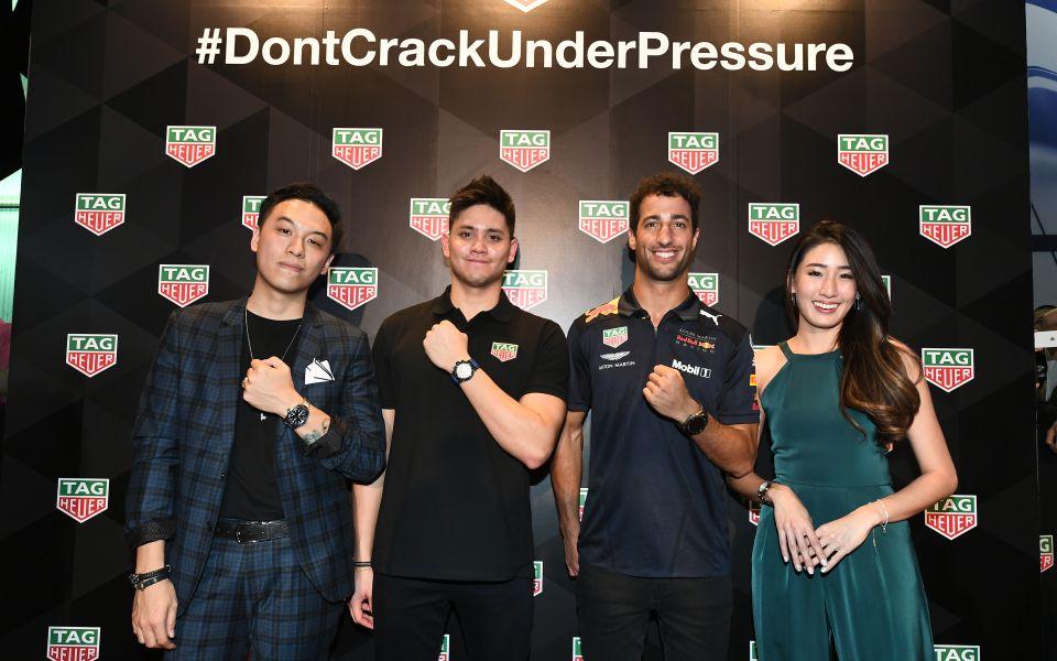 Jon Chua, Joseph Schooling, Daniel Ricciardo, Kimberly Wang