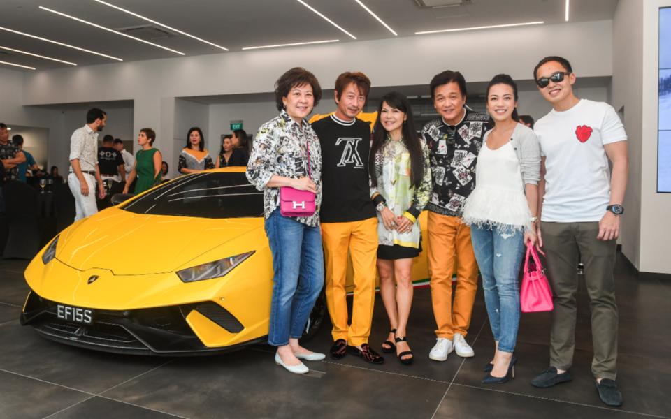 Ow Pui Yee, Kimihisa Abe, Kyoko Abe, Victor Ow, Carmen Ow, Bryan Tan