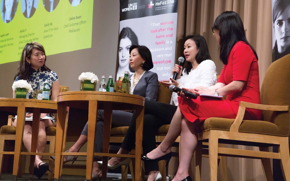 As part of its HeForShe Impact Awards this year, UN Women hosted a panel discussion with female business leaders to raise awareness of the gender pay gap in Singapore