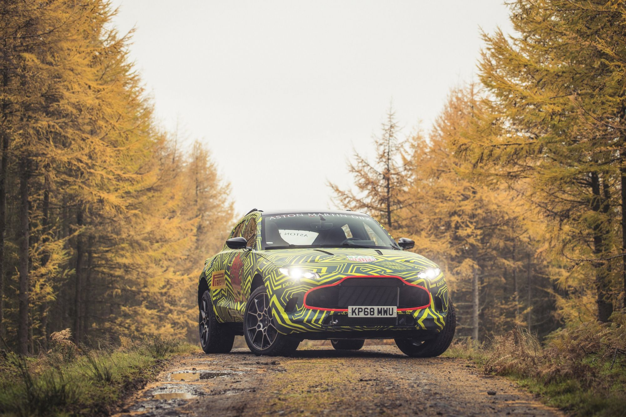 Aston Martin's Debut SUV Gets Put Through Its Paces