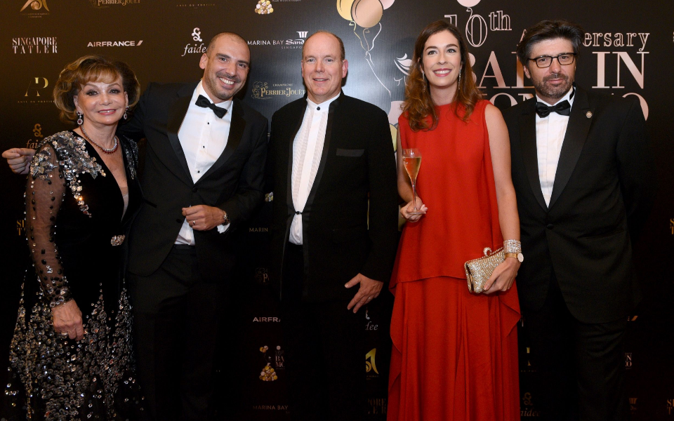 Jacky Deromedi, HSH Prince Albert II, Marie Deloffre, Jean-Marc Deromedi