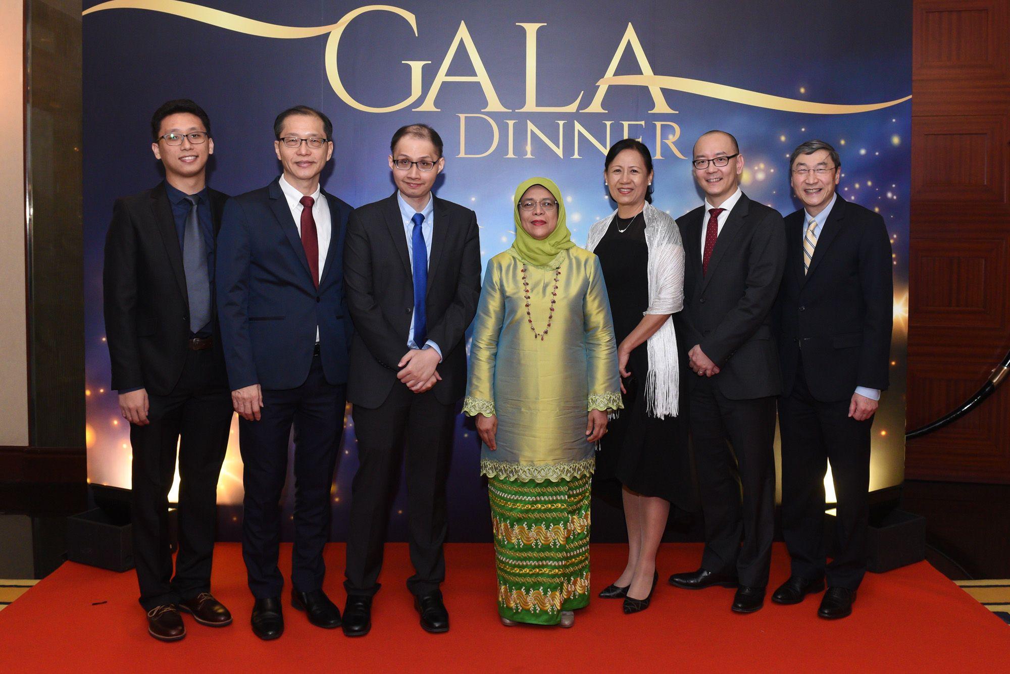 Lee Jie Long, Roger Lee, Joseph Lee, Halimah Yacob, Veron Ang, Chng Wee Joo, John Eu-Li Wong