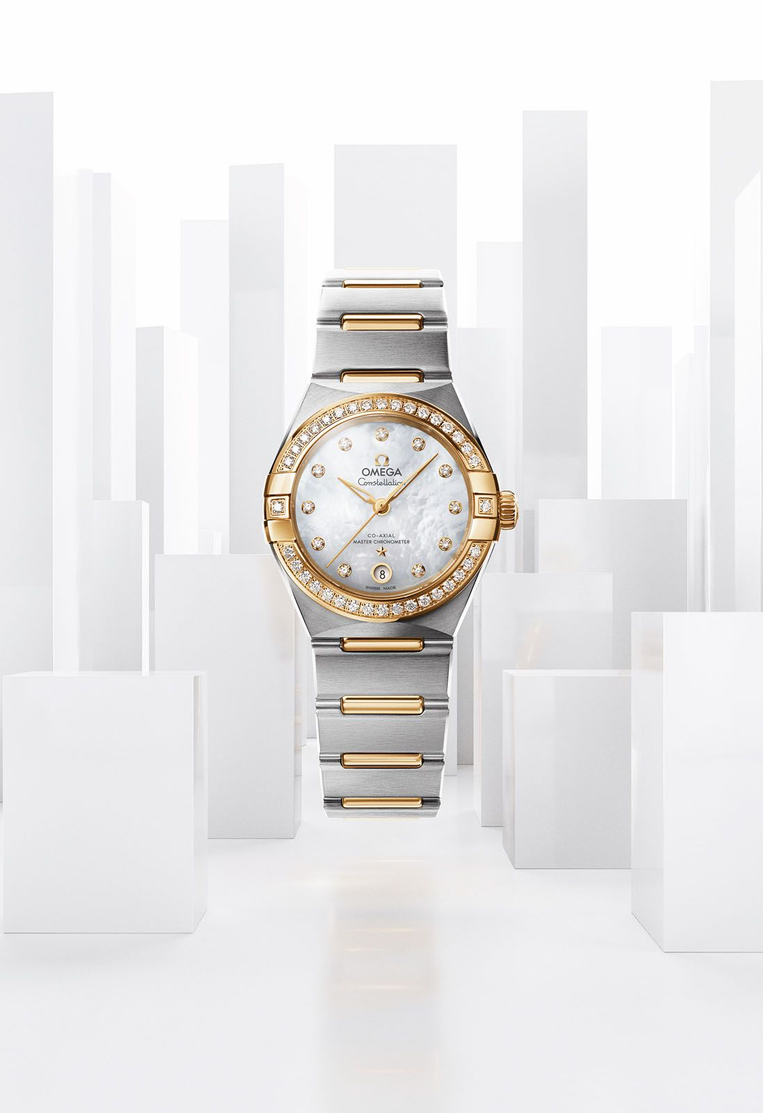 0747b2d815c The new Omega Constellation Manhattan comes in a total of seven different  dial variations