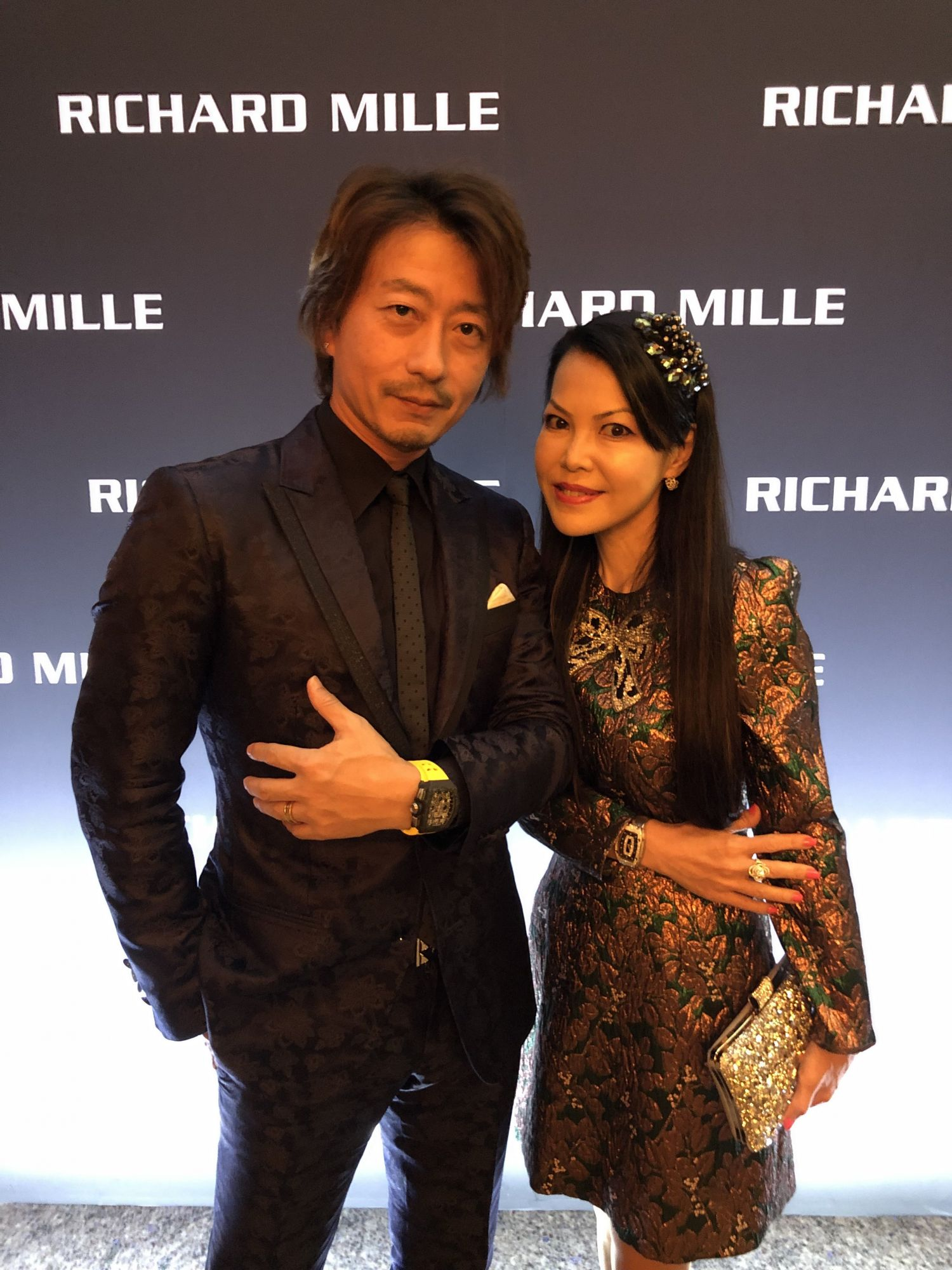 Kimihisa and Kyoko Abe In Tokyo For Richard Mille Ginza Boutique Re-Opening