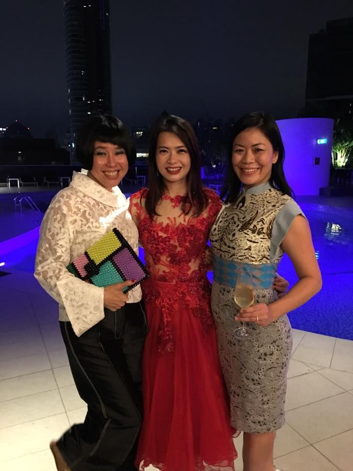 Rosalynn Tay, Ho Ching Lin, Jade Kua. Photo: Rosalynn Tay/Facebook.