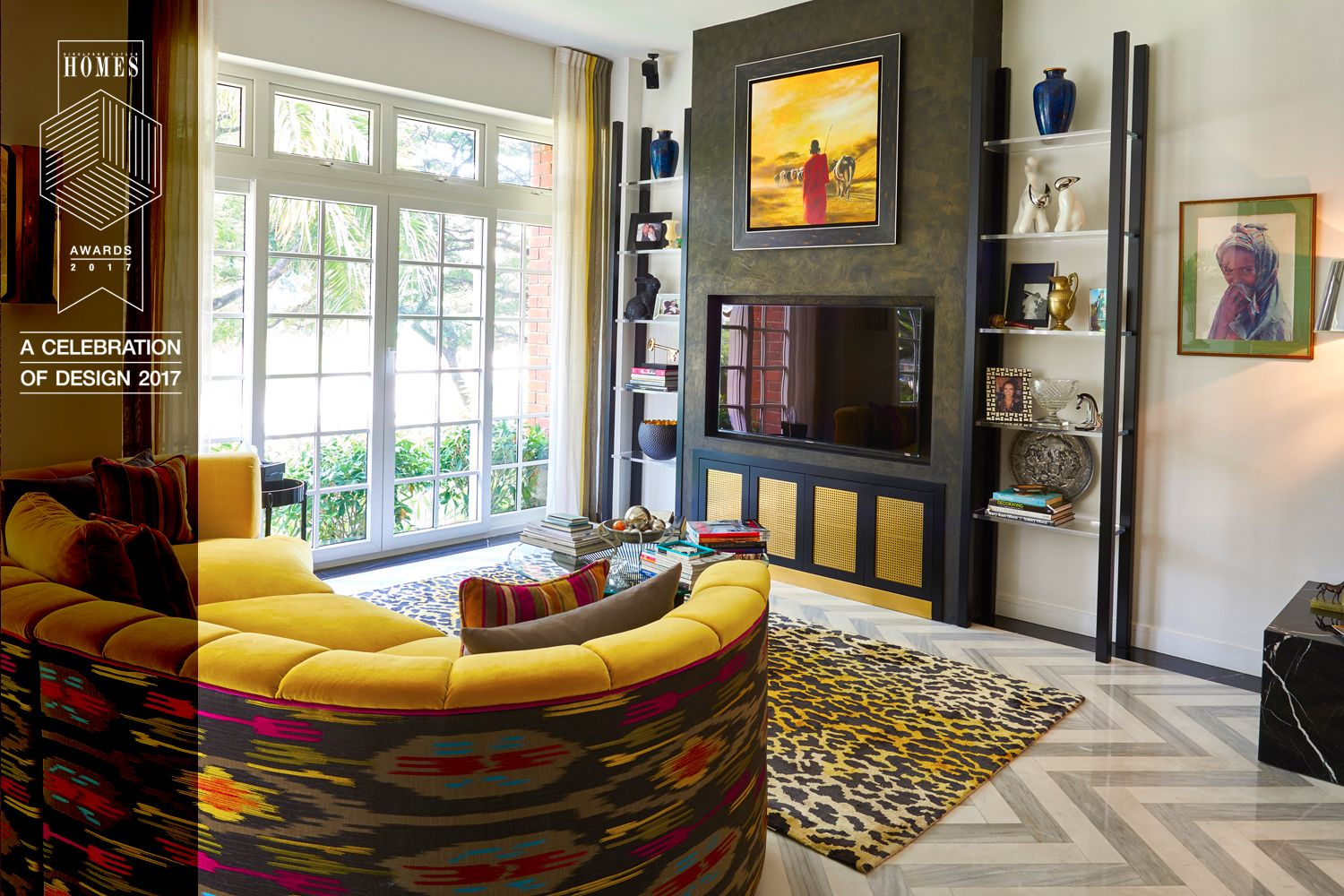 Design Intervention partner Andrea Savage's living room