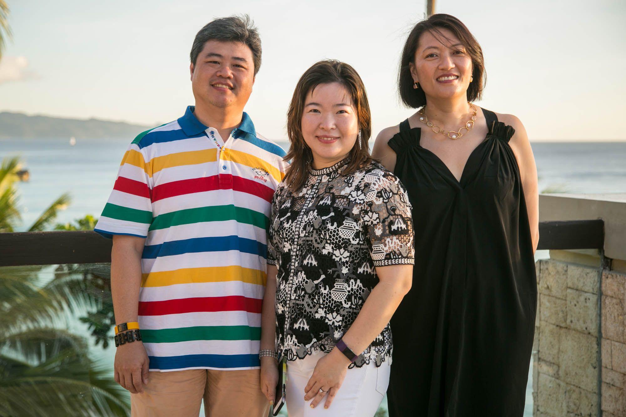 Clark Gothong, Liza Gothong, Elaine Co